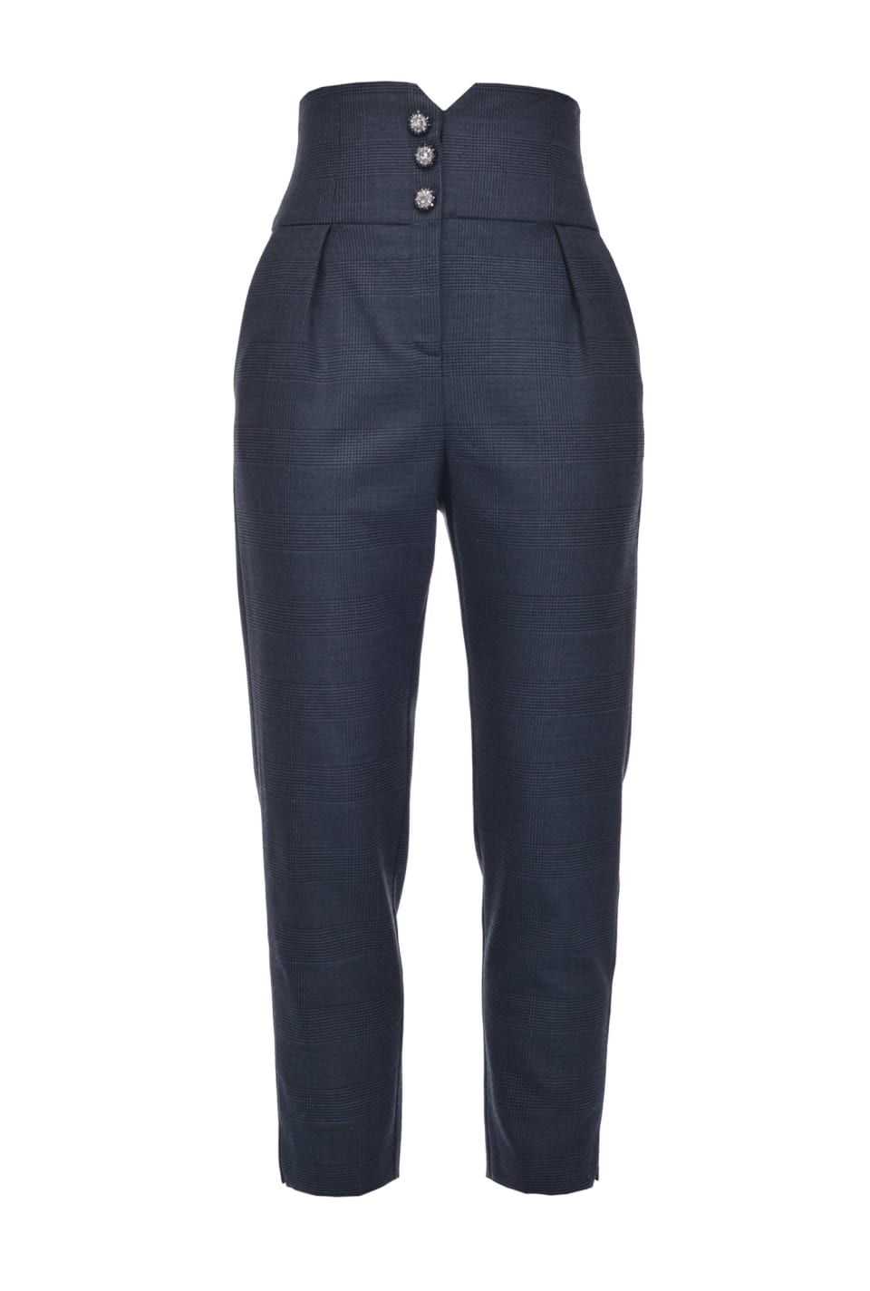 Wool Prince-of-Wales trousers