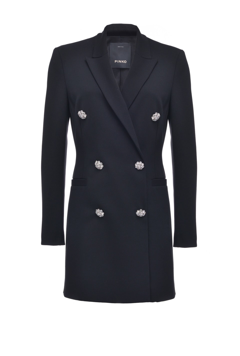 Coat dress with jewel buttons