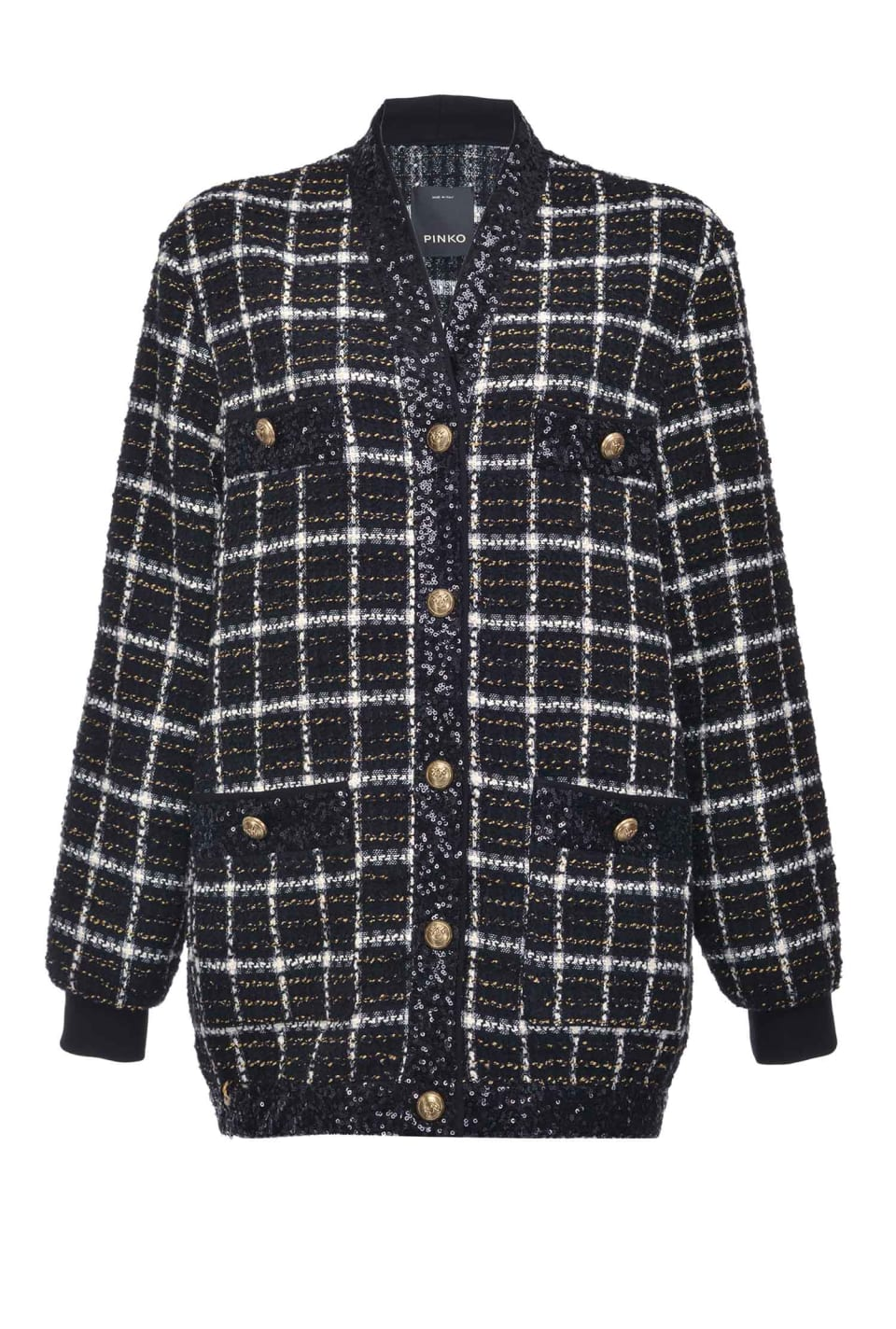 Check cardigan jacket