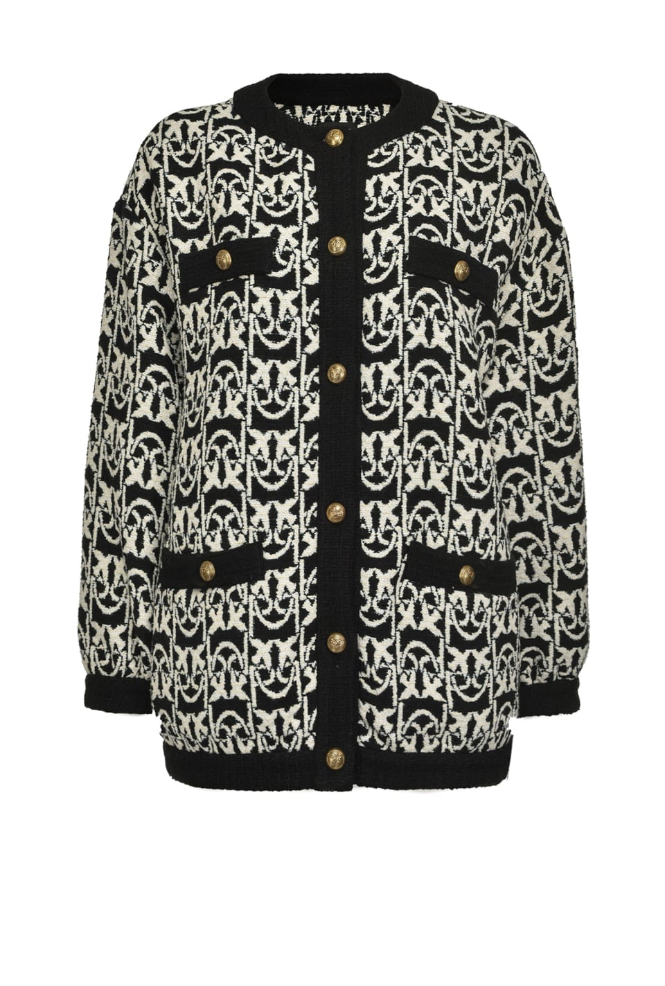 Monogram tweed cardigan-jacket