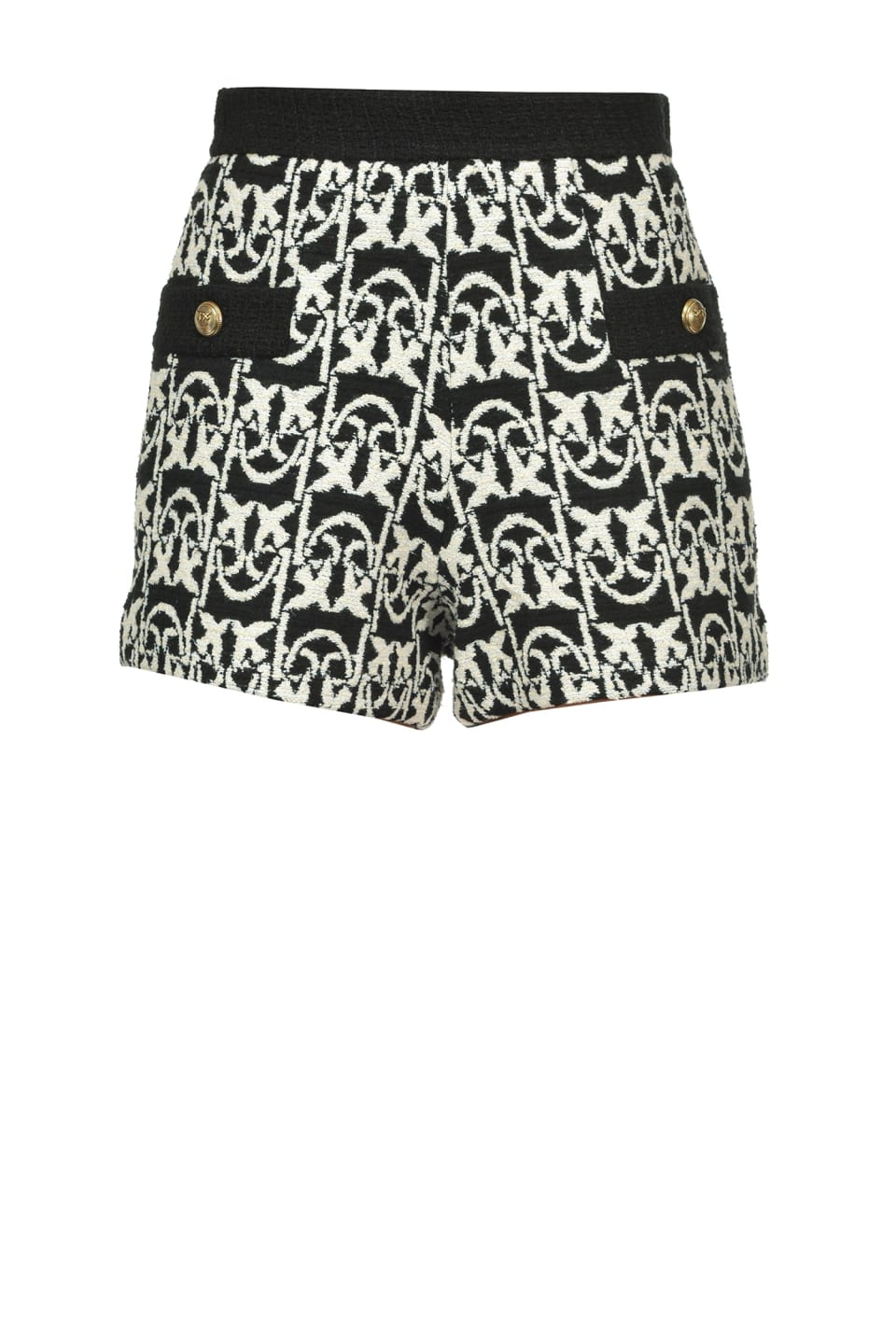 Monogram tweed shorts