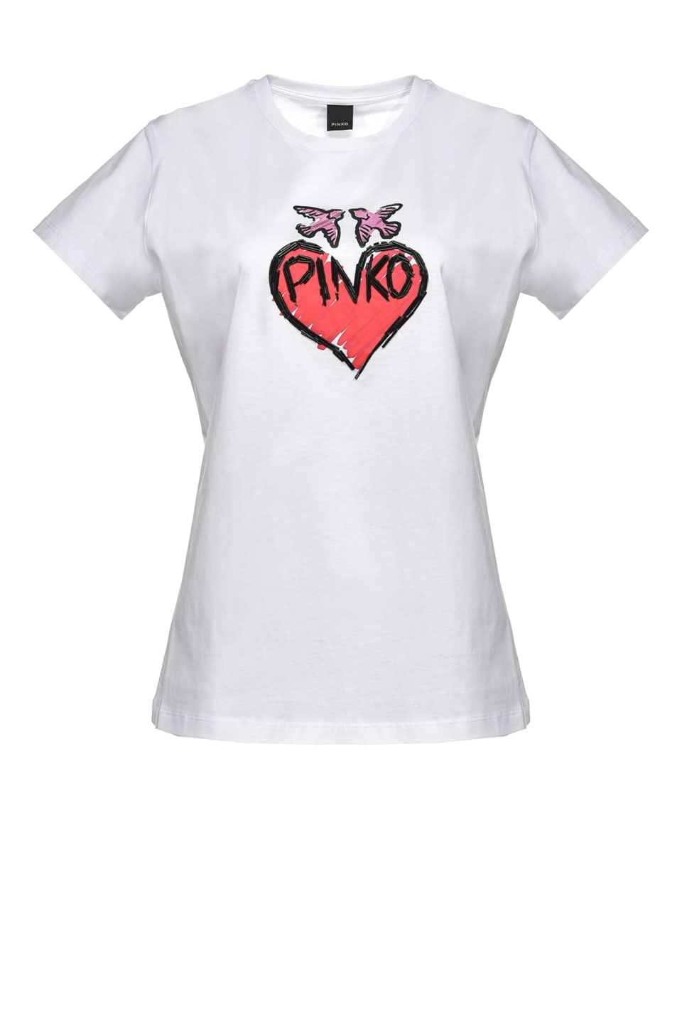 T-shirt con cuore graffiti