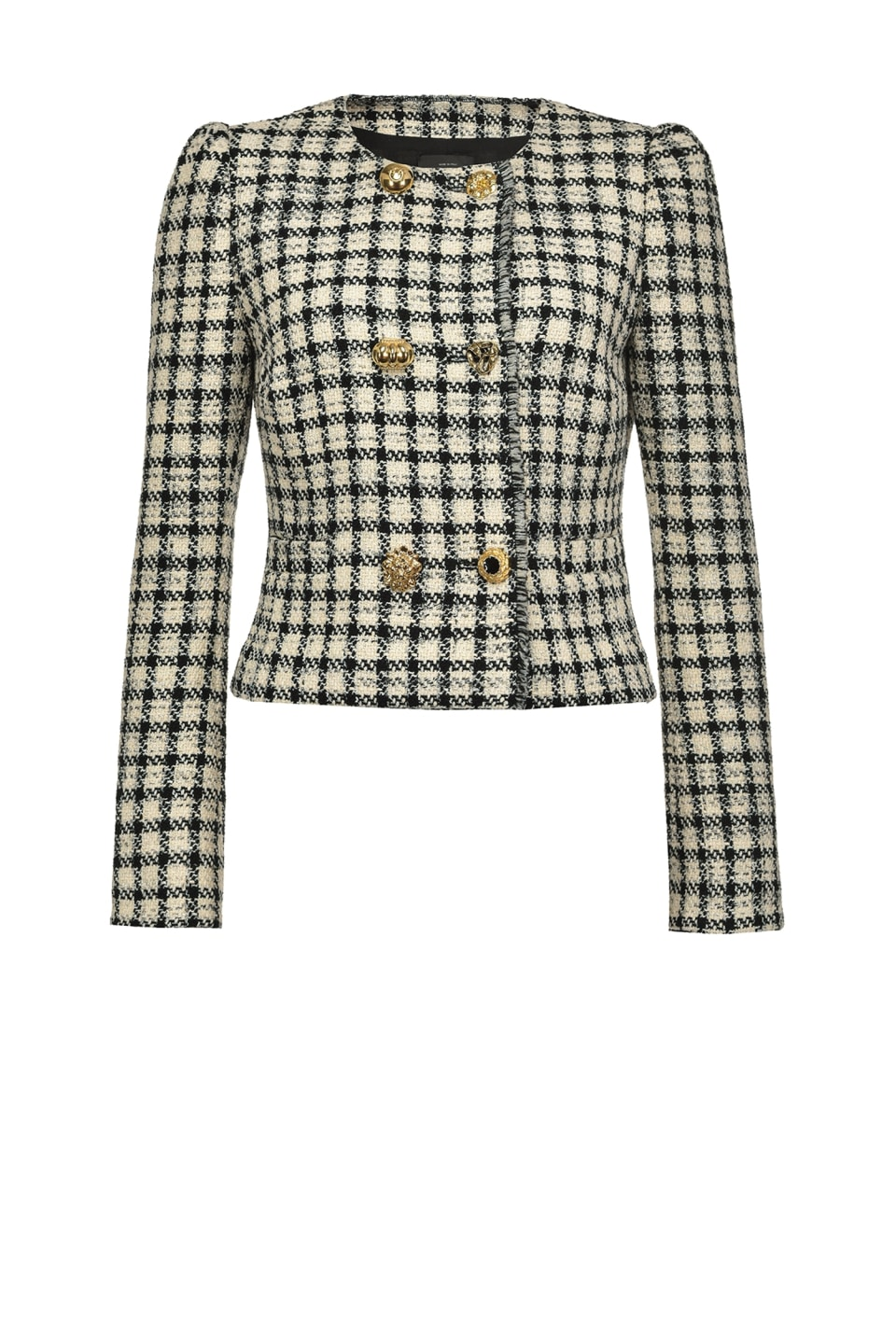 Short check bouclé jacket - Pinko