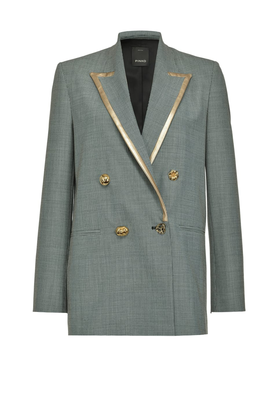 Blazer with golden trim