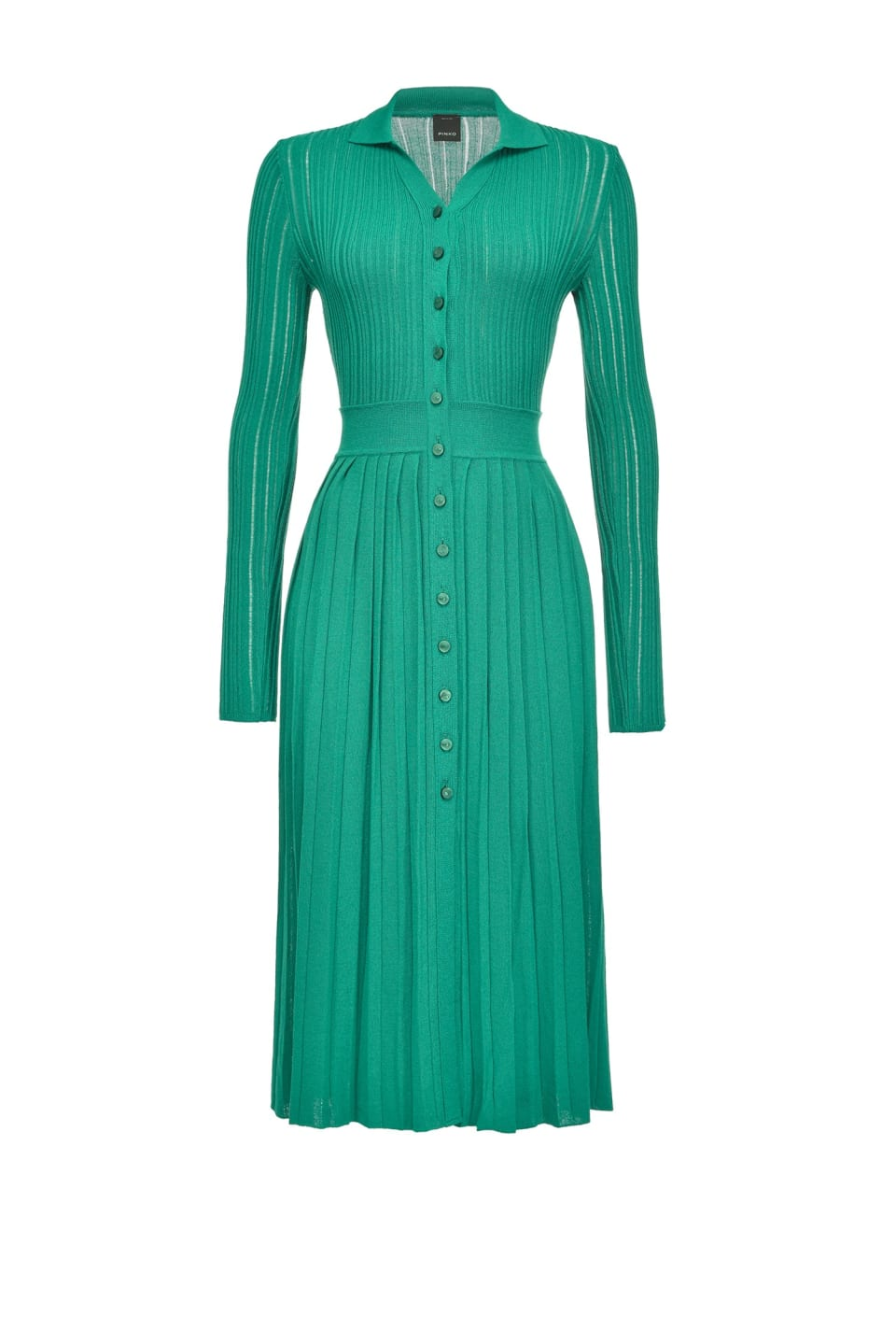 Dress with buttons in lurex knit