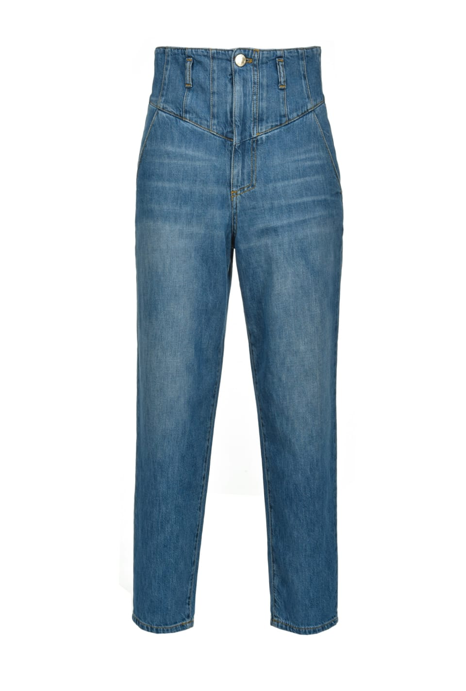 High-rise carrot-fit jeans