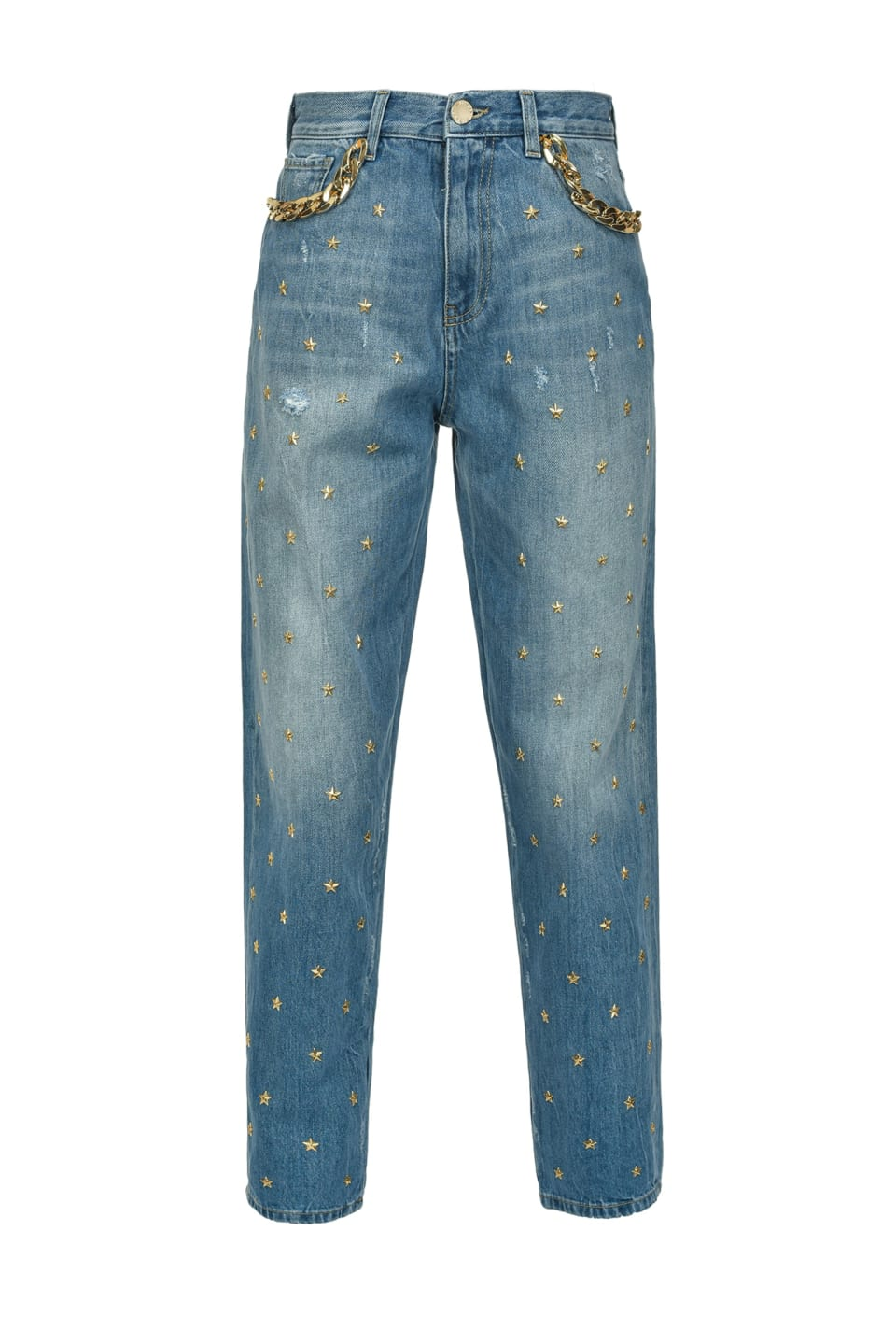 Mom-fit jeans with stars