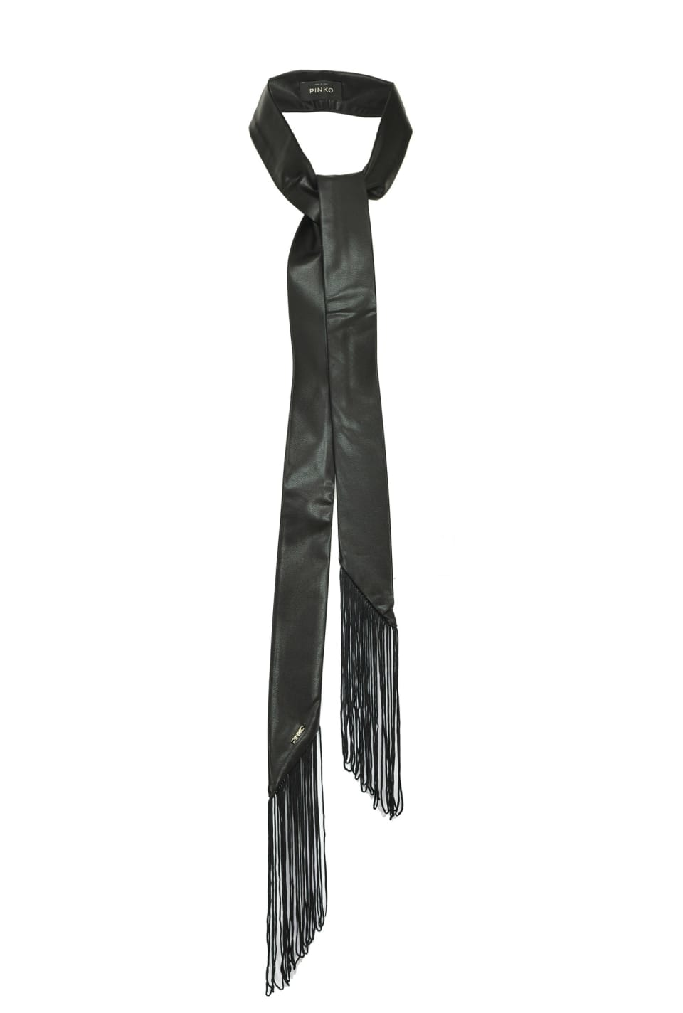 Thin faux leather scarf