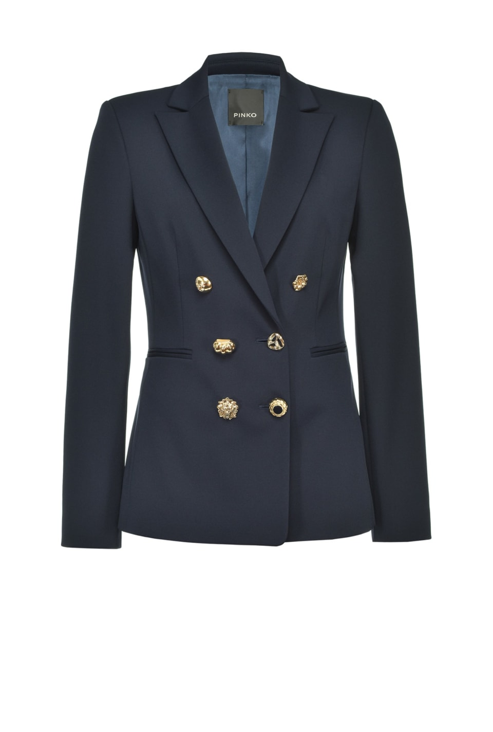 Sailor-style blazer with jewel buttons