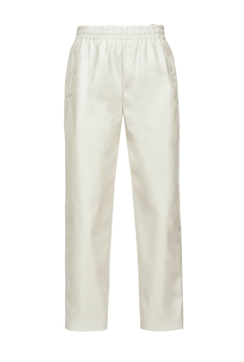Leather effect trousers with elastic