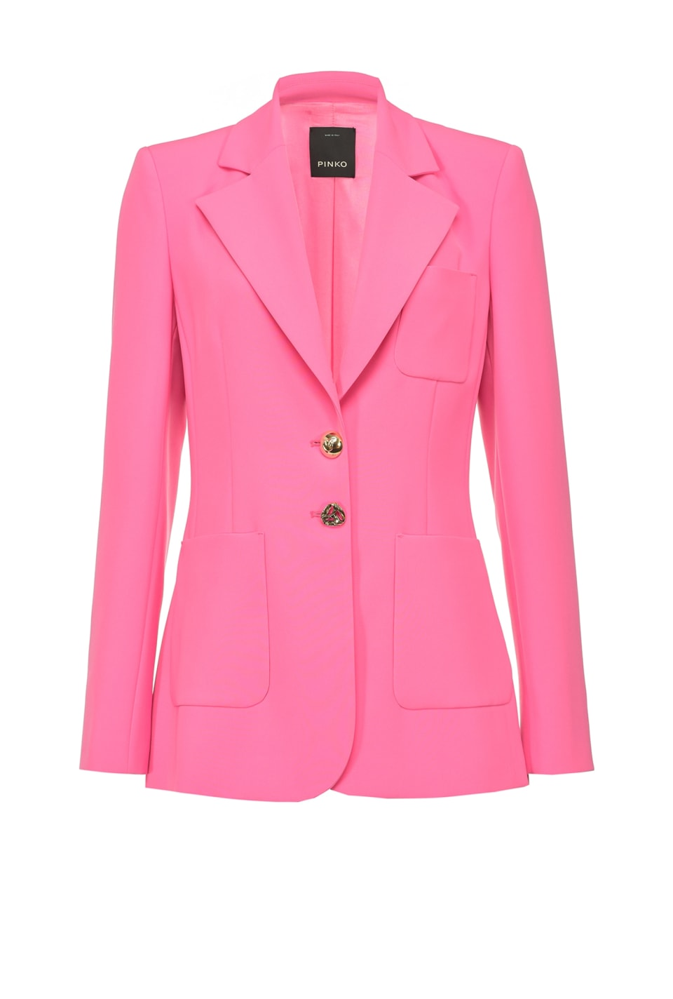 Color blazer with jewel buttons