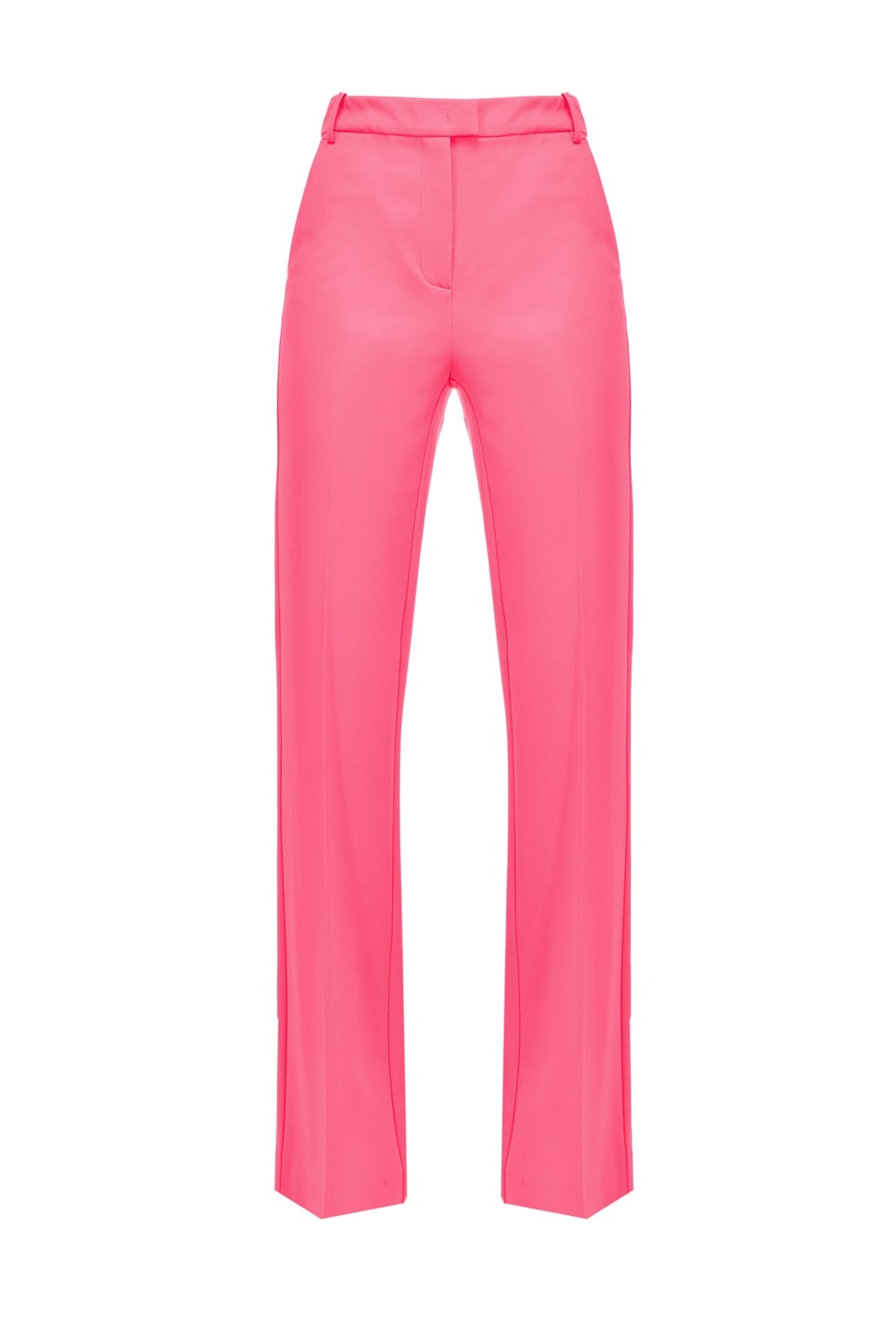 Flared trousers in technical fabric