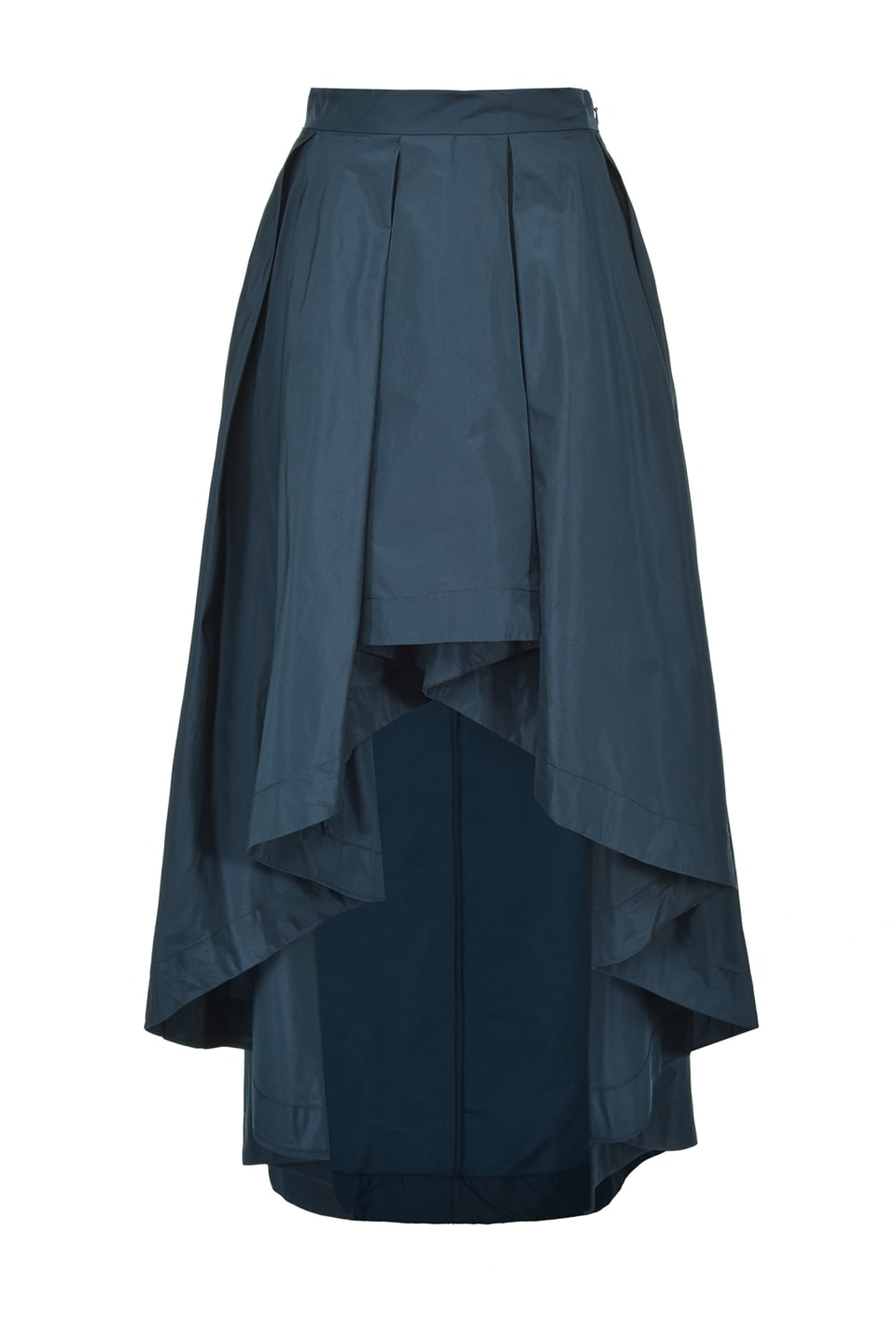 Long taffeta skirt