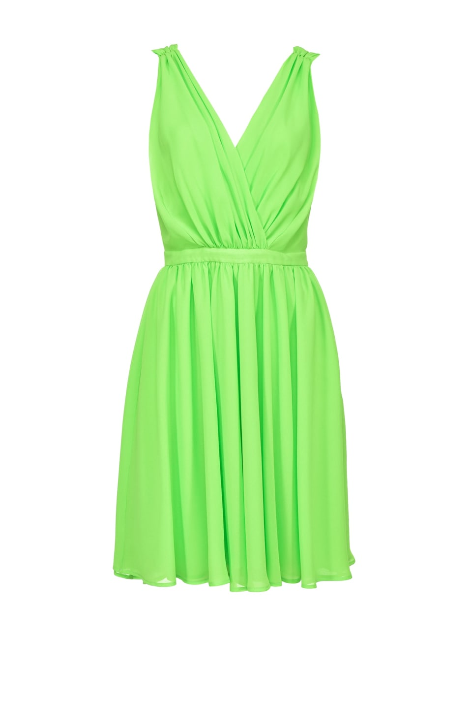 Short dayglow georgette dress