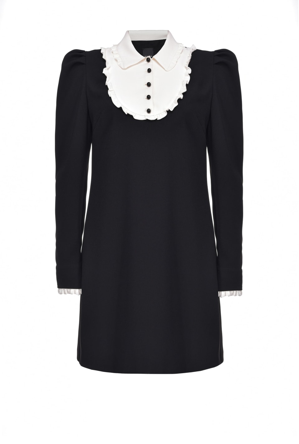 Dress with contrasting collar - Pinko
