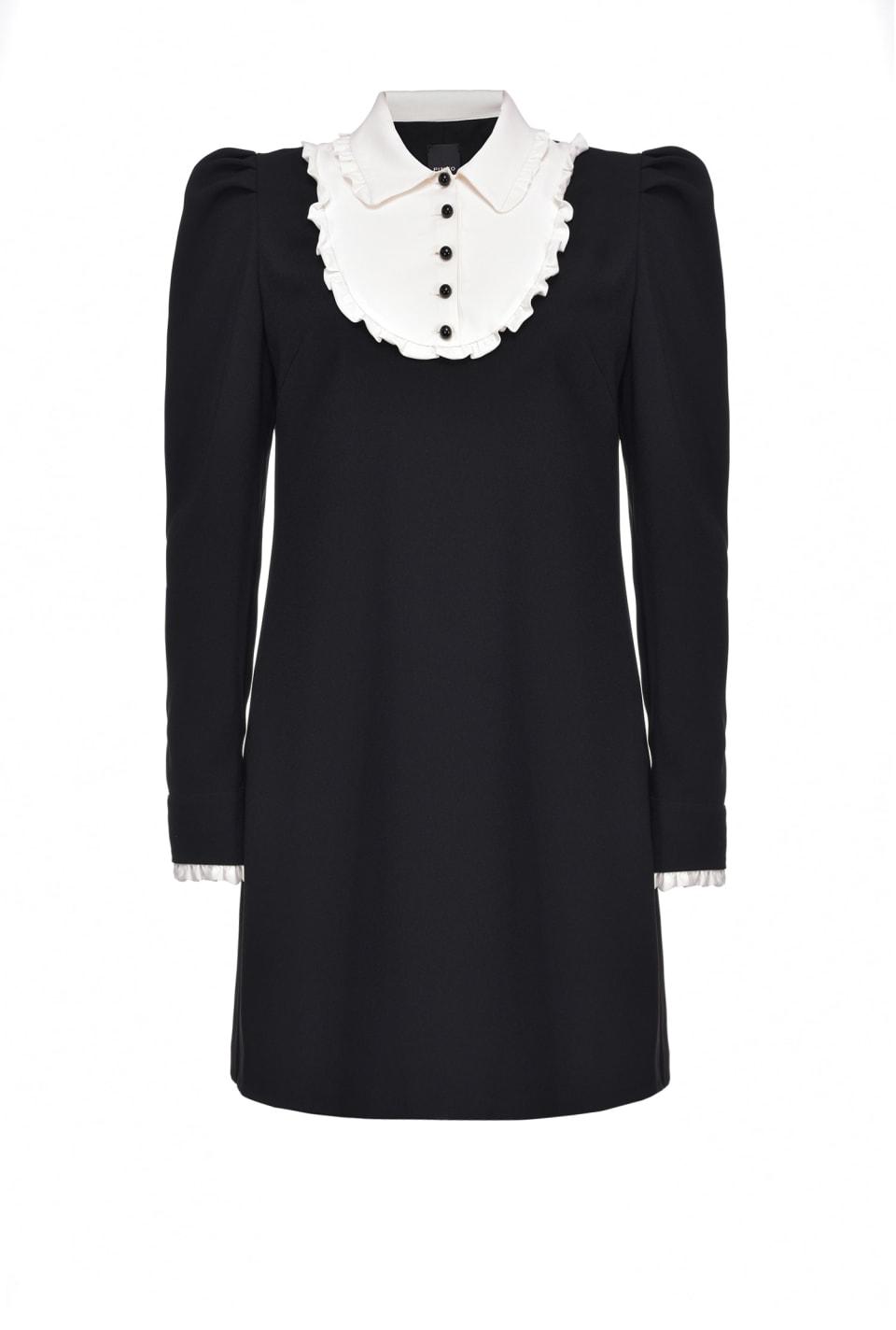 Kleid mit Kontrastkragen - Pinko