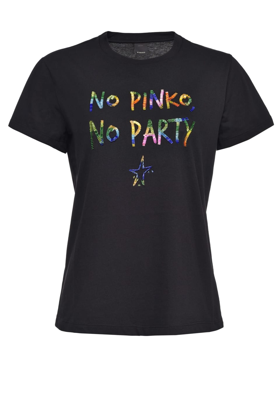 Multicolour NO PINKO NO PARTY T-shirt - Pinko