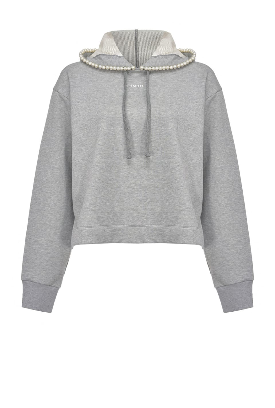 Sweatshirt with pearls - Pinko