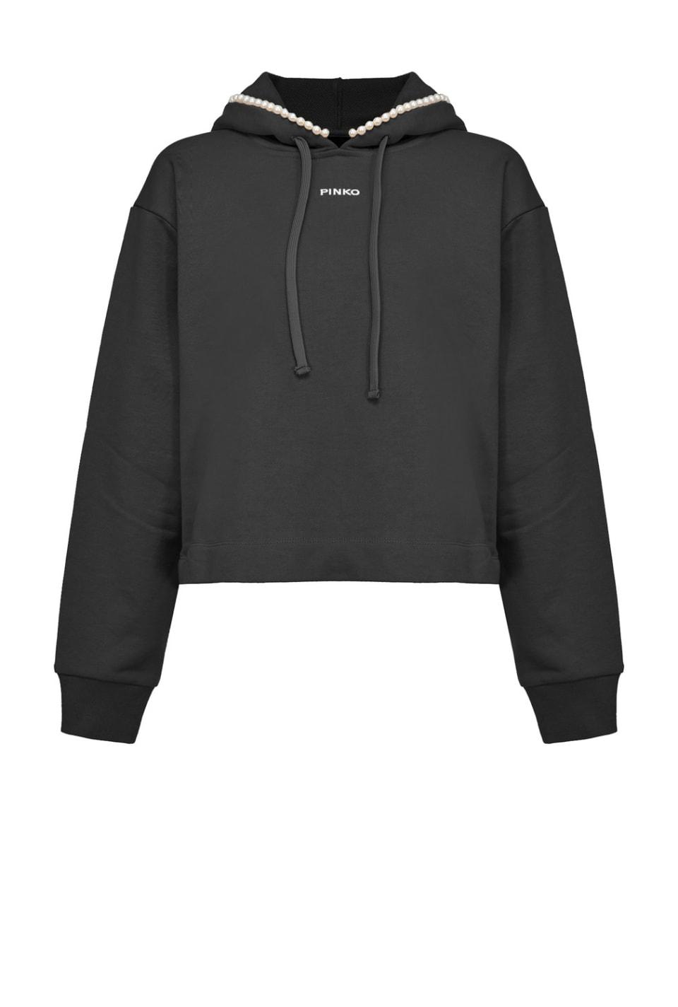 Sweatshirt mit Perlen - Pinko