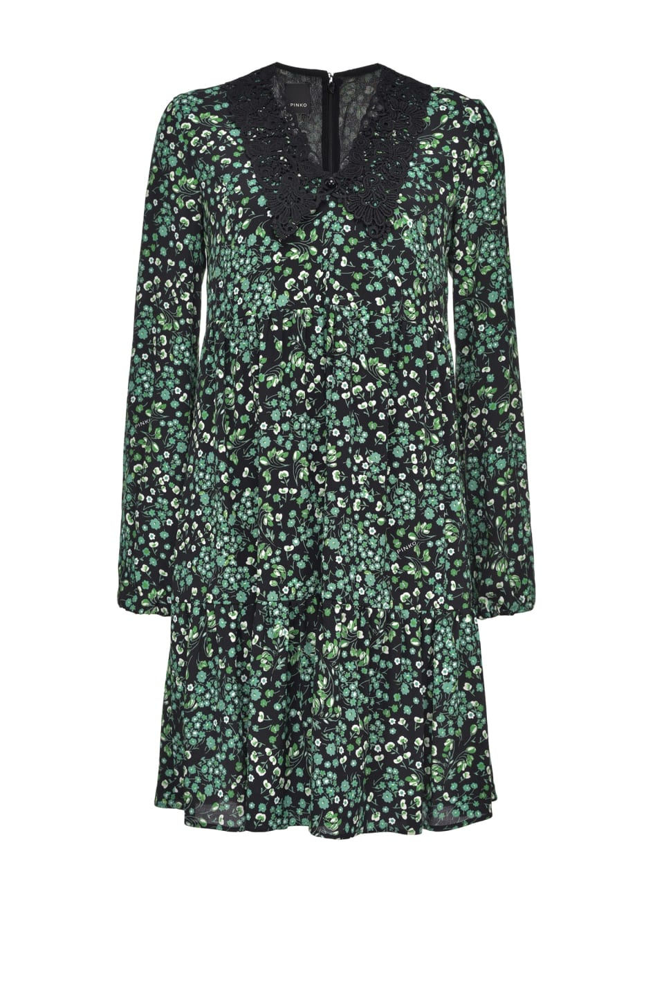 Floral dress with lace collar - Pinko