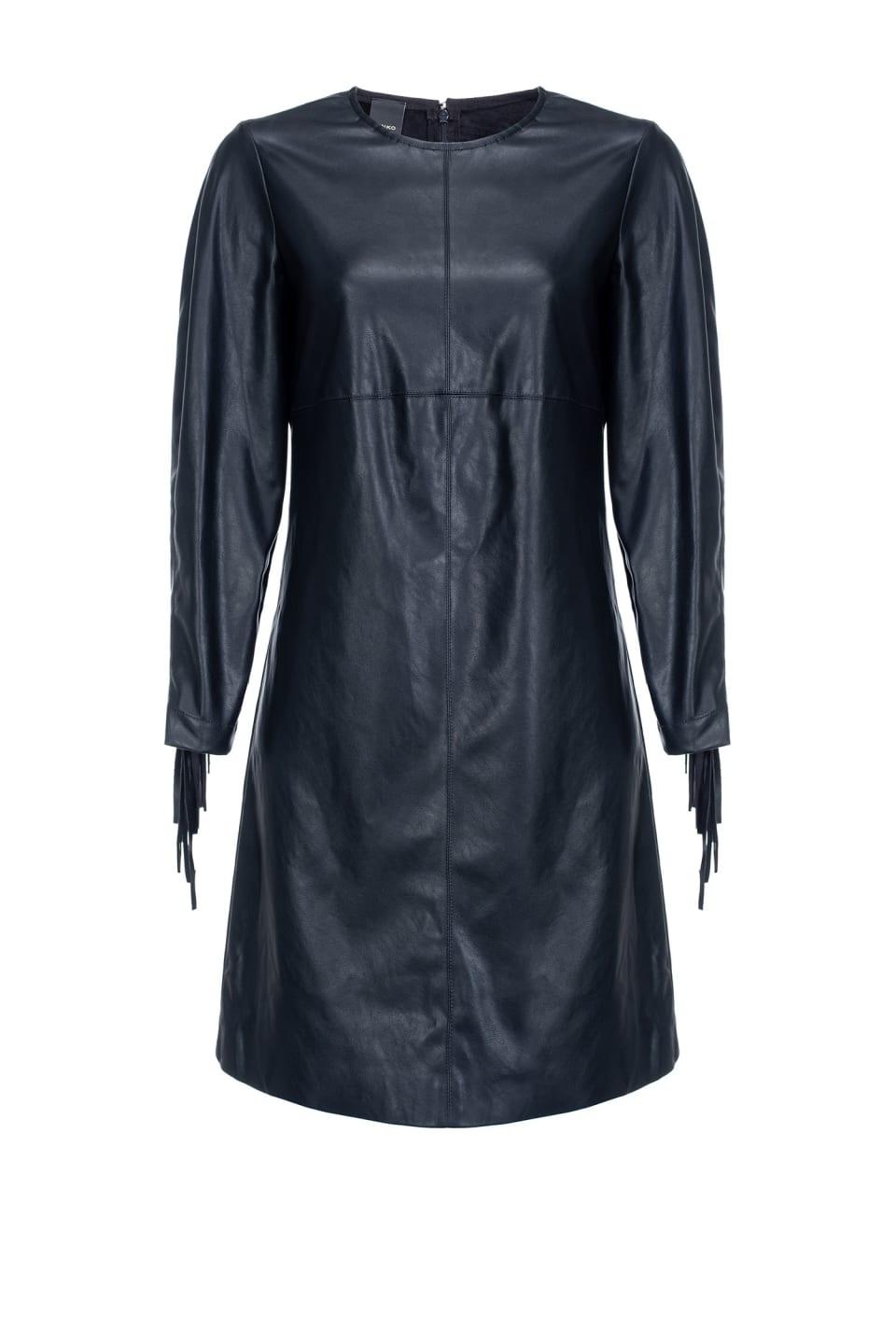 Robe effet cuir avec franges - Pinko