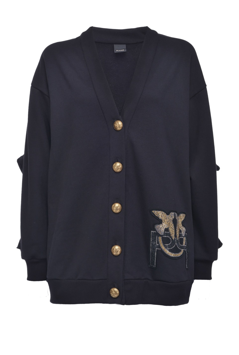 Fleece Monogram cardigan - Pinko