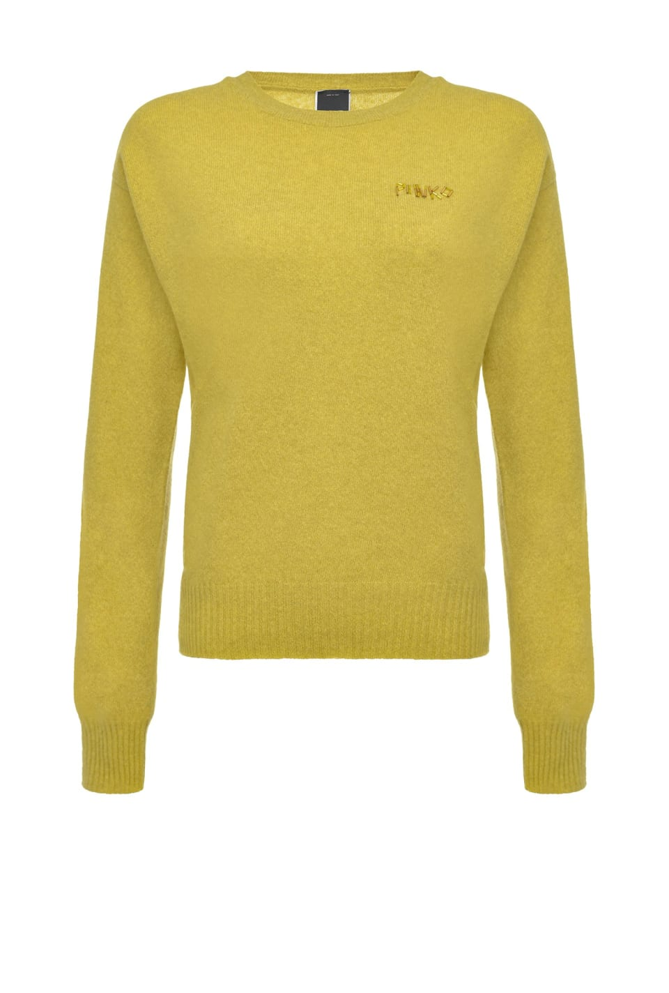 Wool pullover with embroidery and detachable collar - Pinko