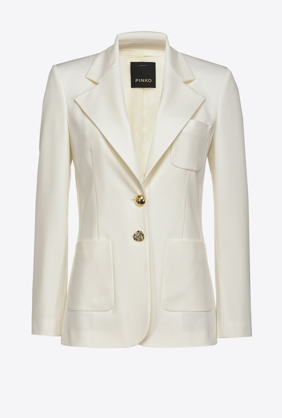 Scuba-effect blazer with jewel buttons - Pinko