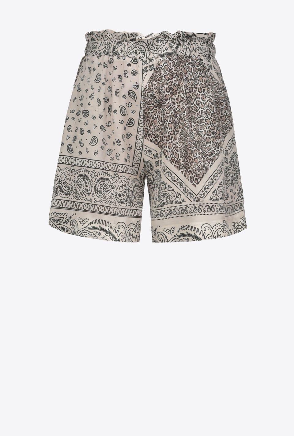 Pantalones cortos con estampado de bandana - Pinko