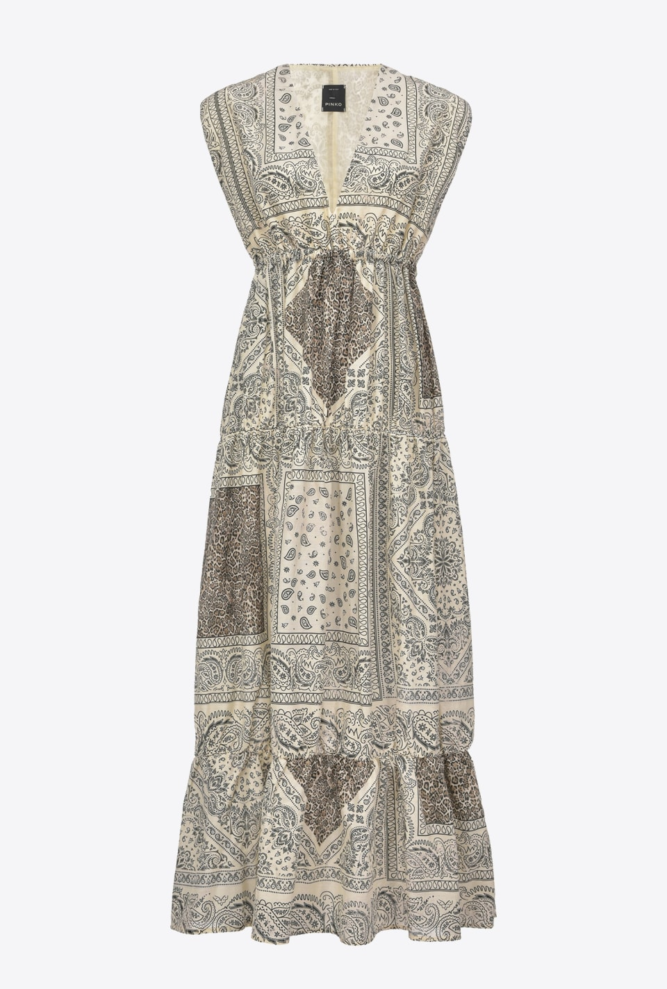 Long bandana-print dress - Pinko