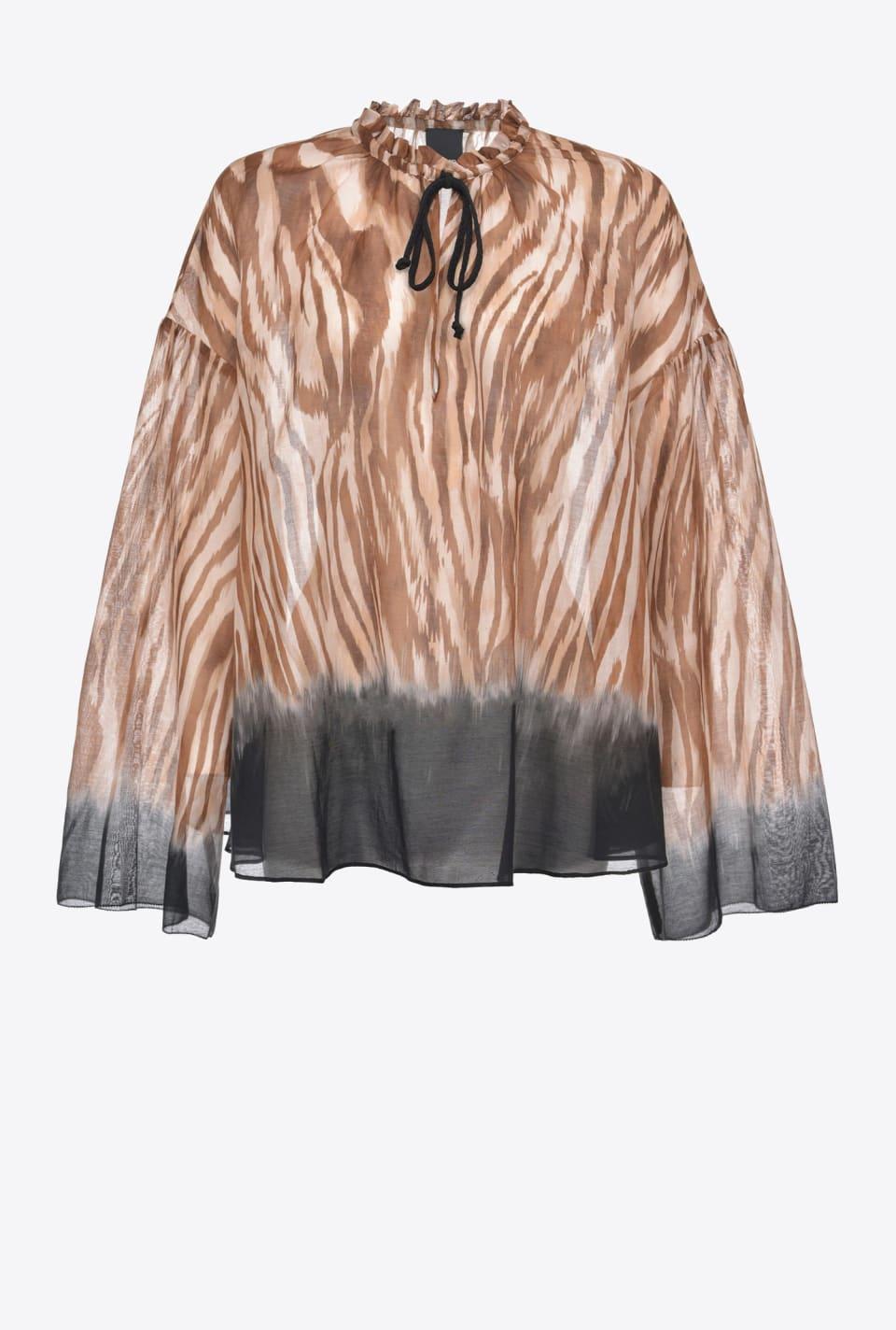 Zebra-print blouse - Pinko