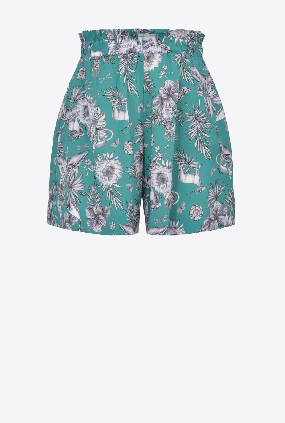 Shorts mit Jungle-Print - Pinko