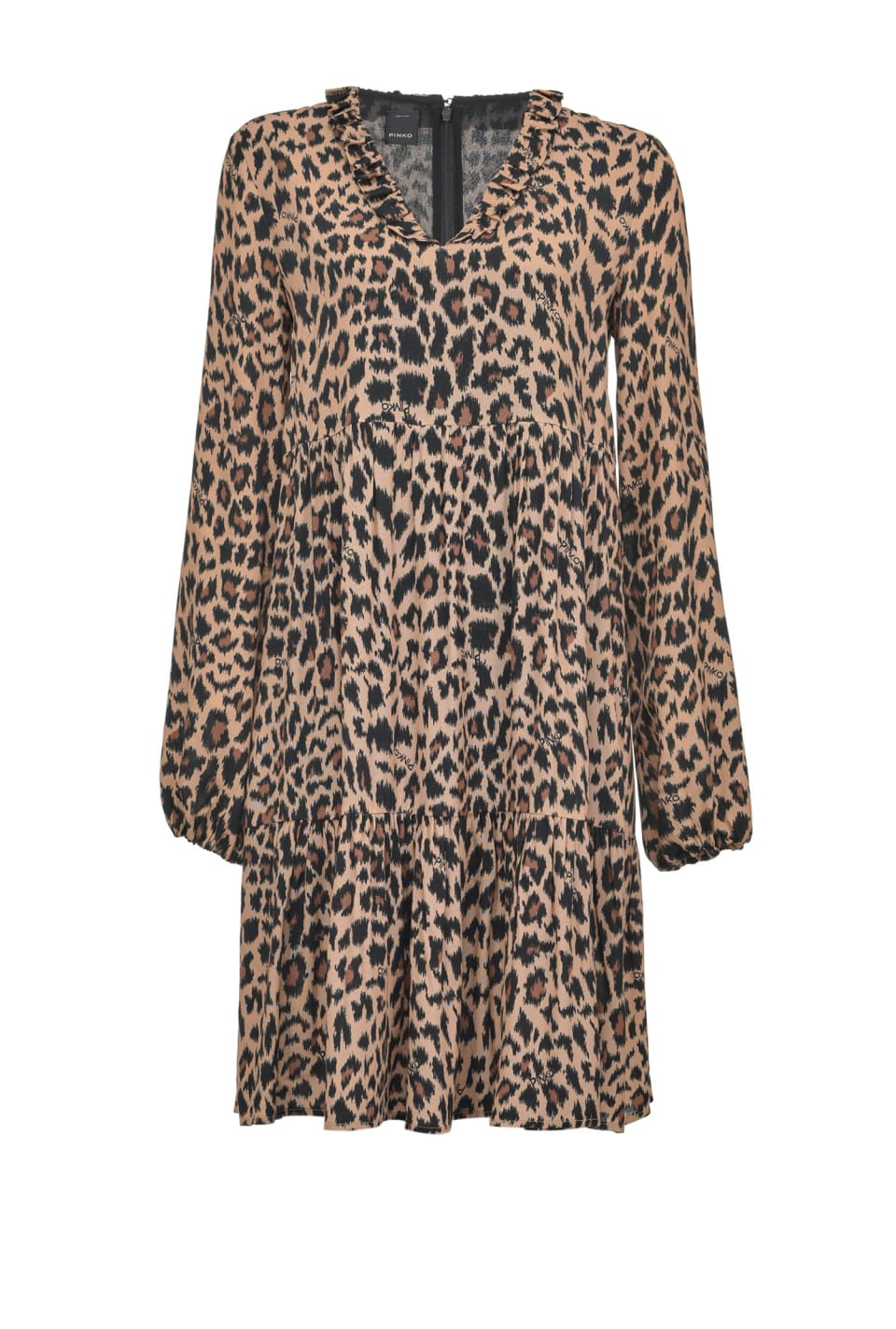 Leopard print mini dress - Pinko