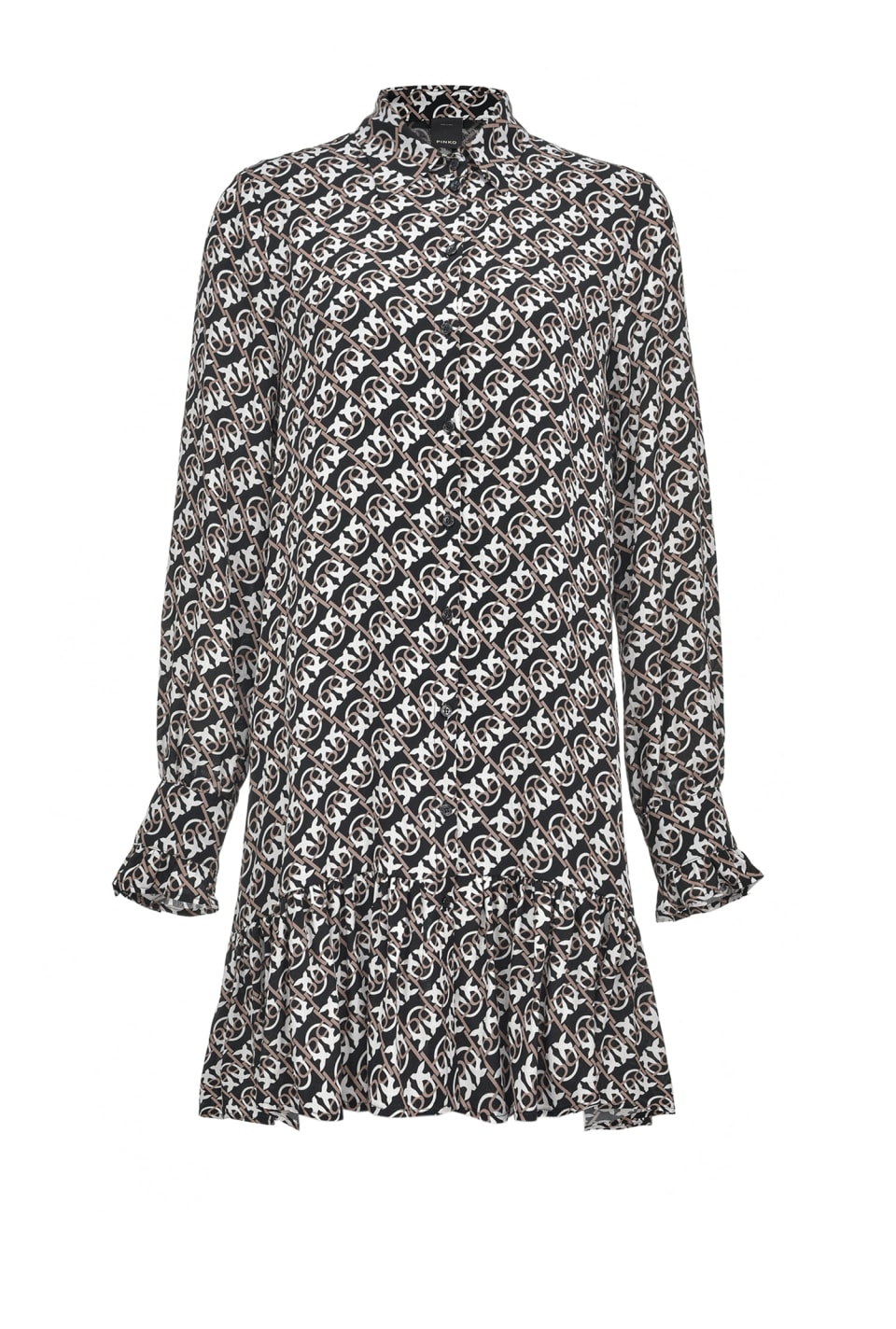Mini-robe chemisier à imprimé Monogram - Pinko