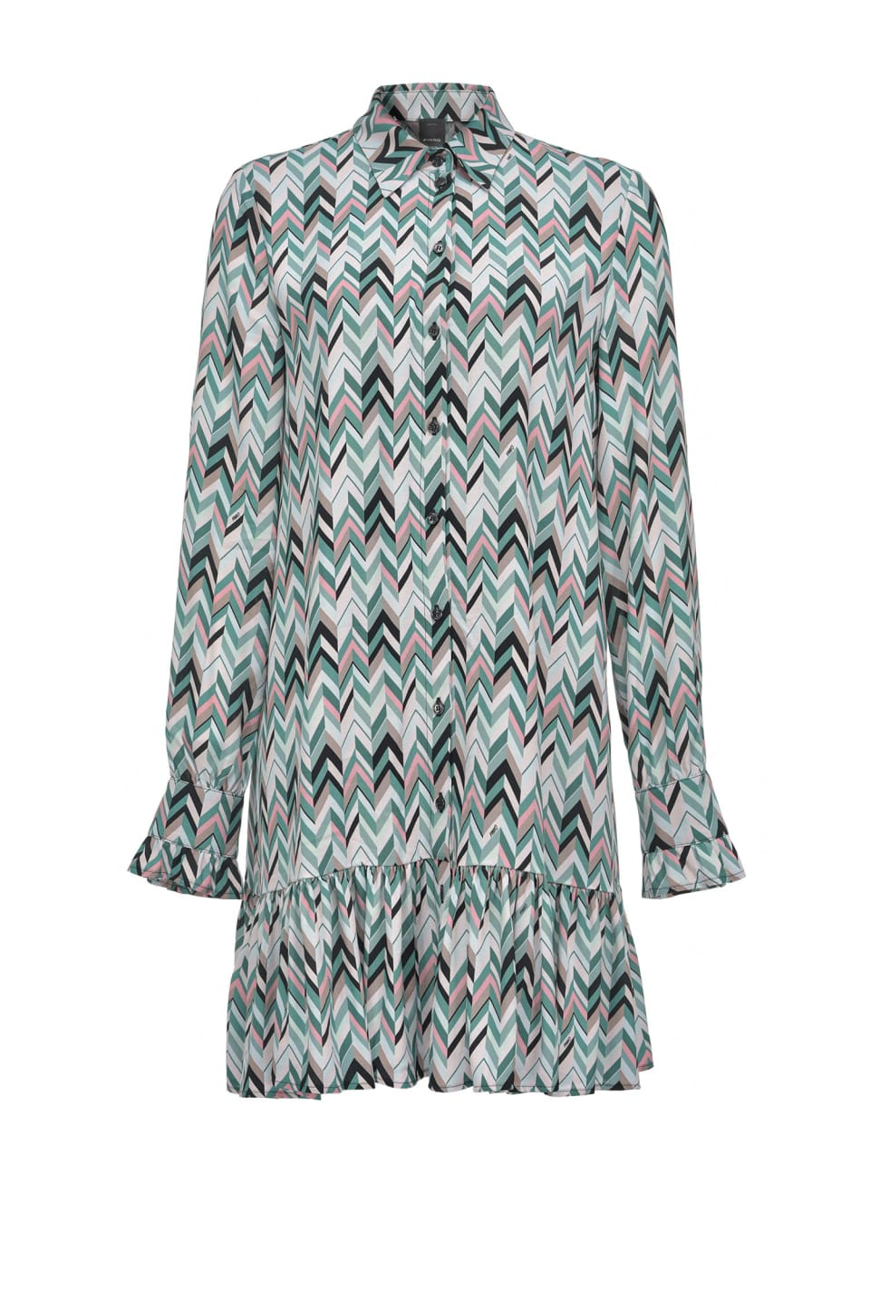 Chevron print mini shirtdress - Pinko