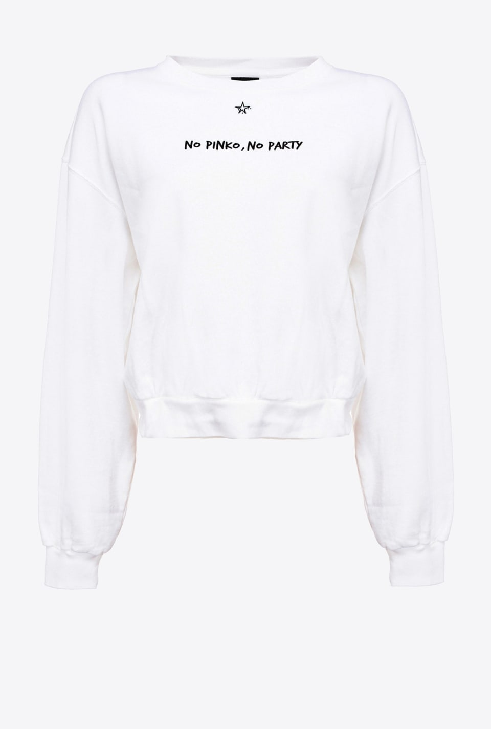 Cropped No PINKO No Party sweatshirt - Pinko