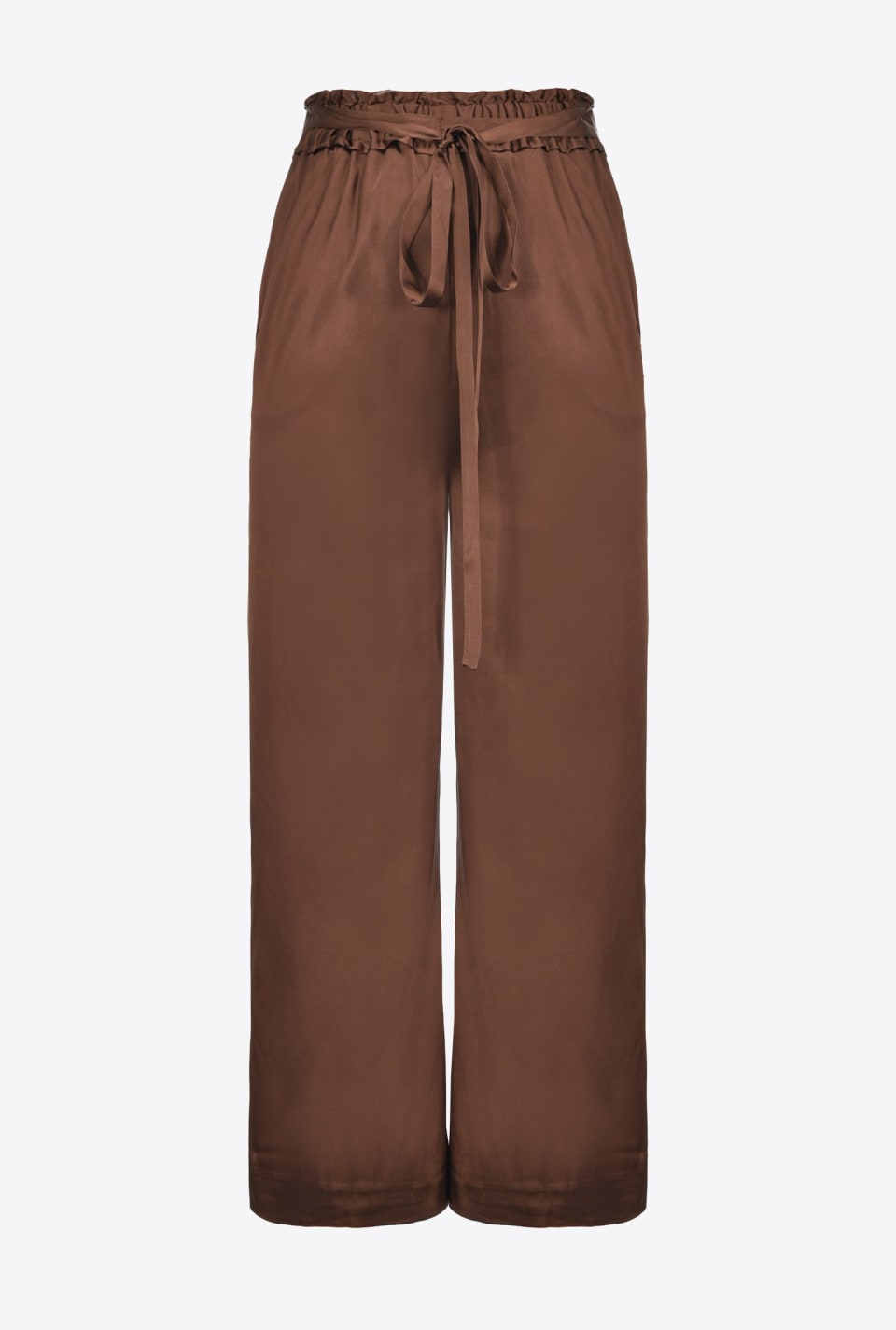Waist tie-embellished wide trousers - Pinko