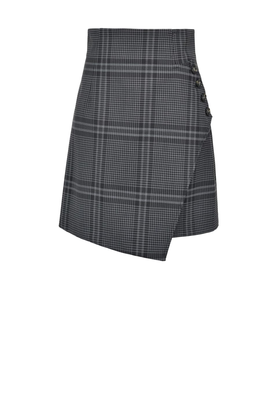 Stretch maxi check miniskirt - Pinko