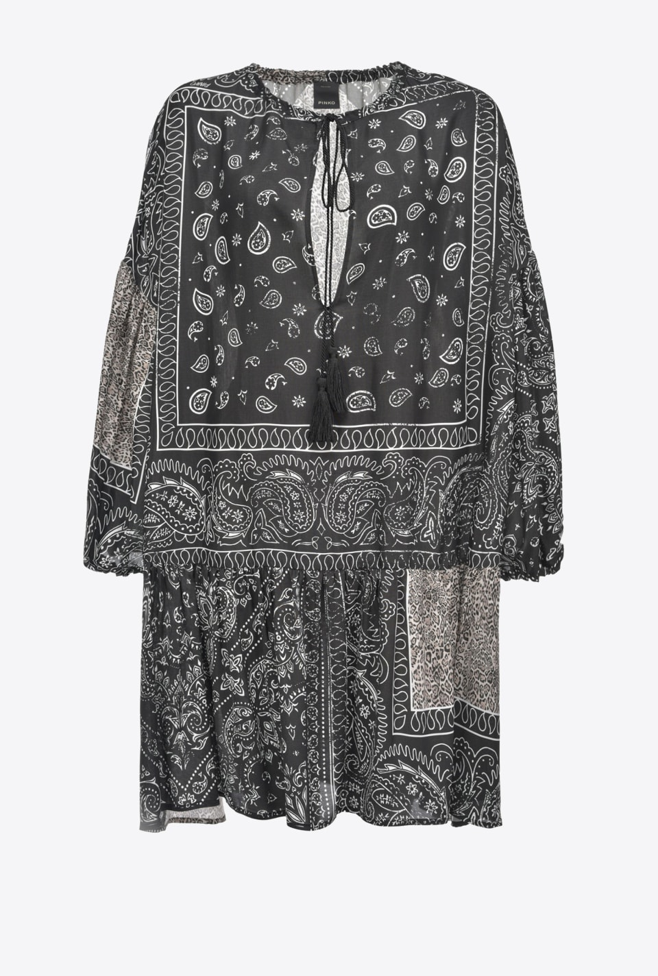 Bandana print tunic dress - Pinko