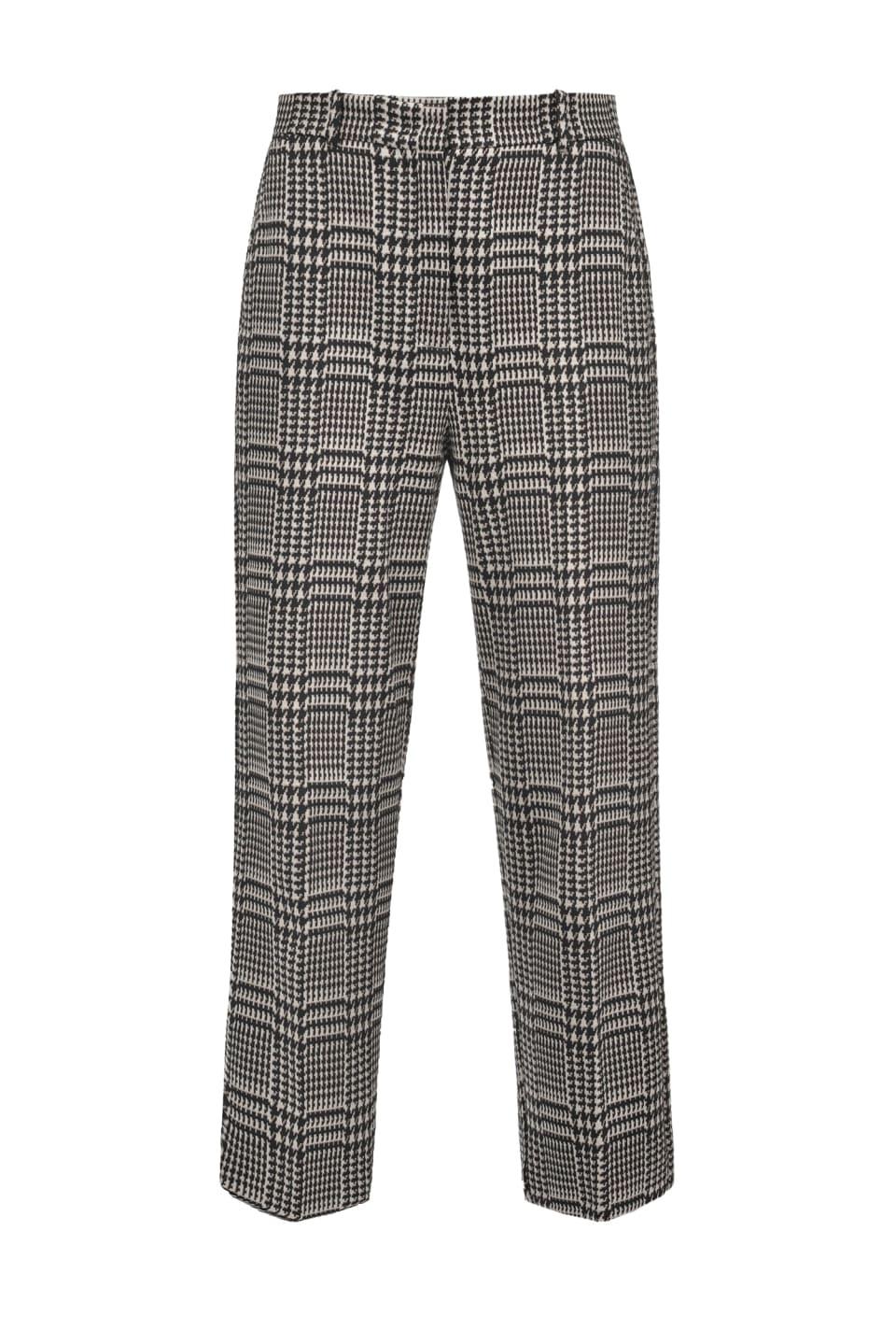 Straight Glen Plaid trousers - Pinko