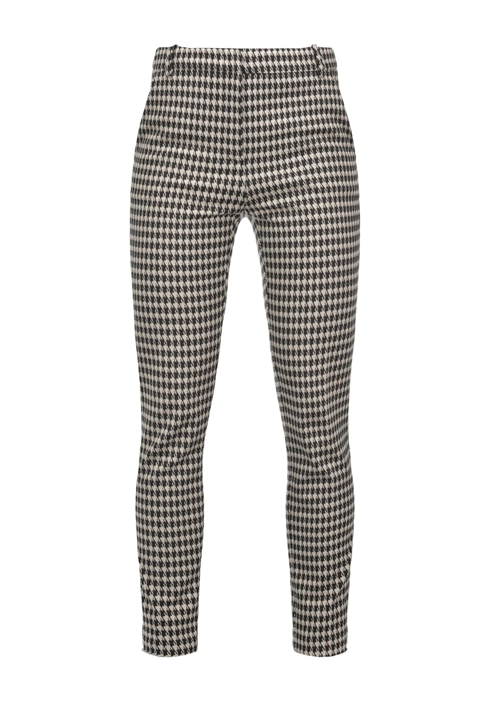 Cigarette-fit houndstooth trousers - Pinko