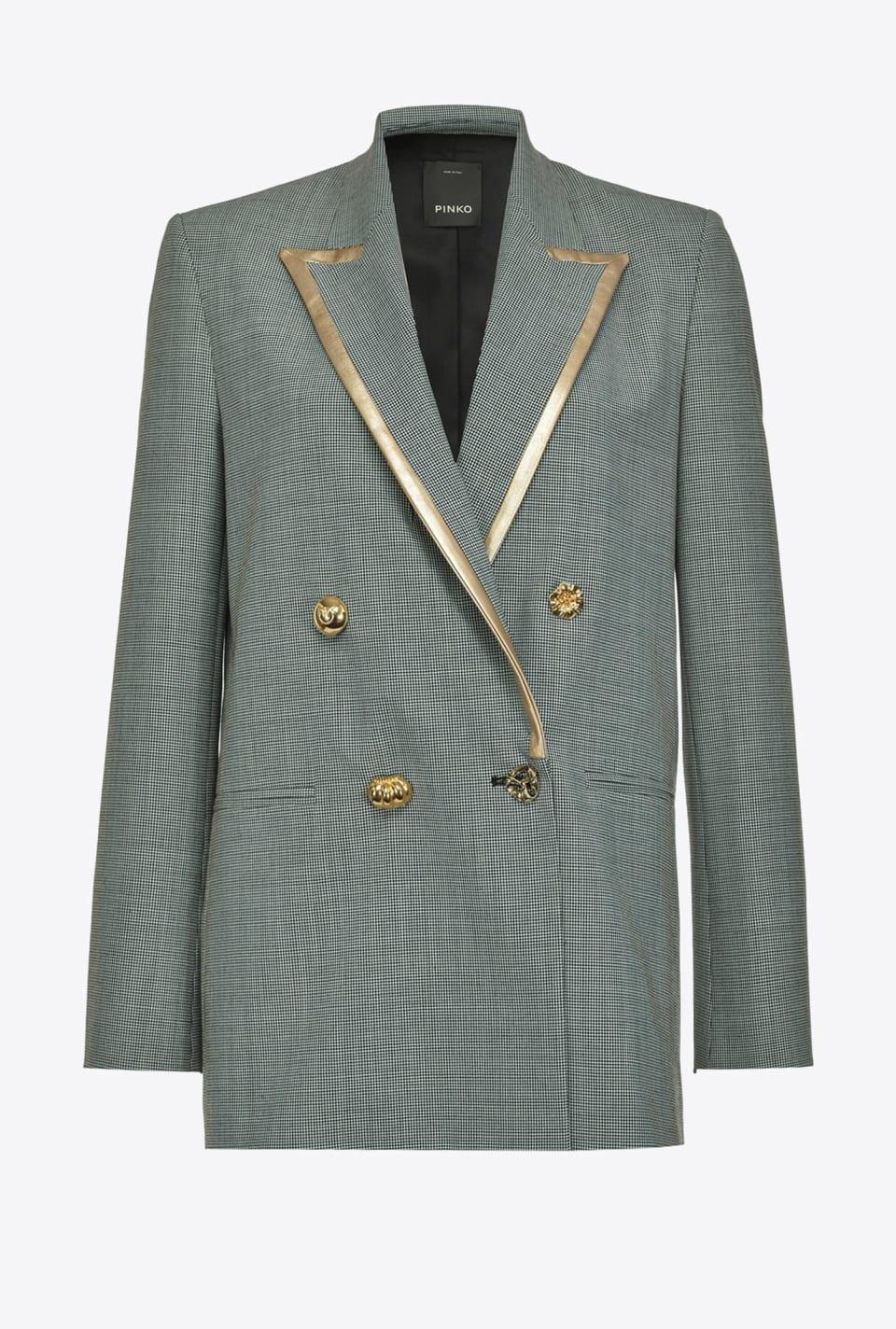 镀金色轮廓线西装外套 - Pinko