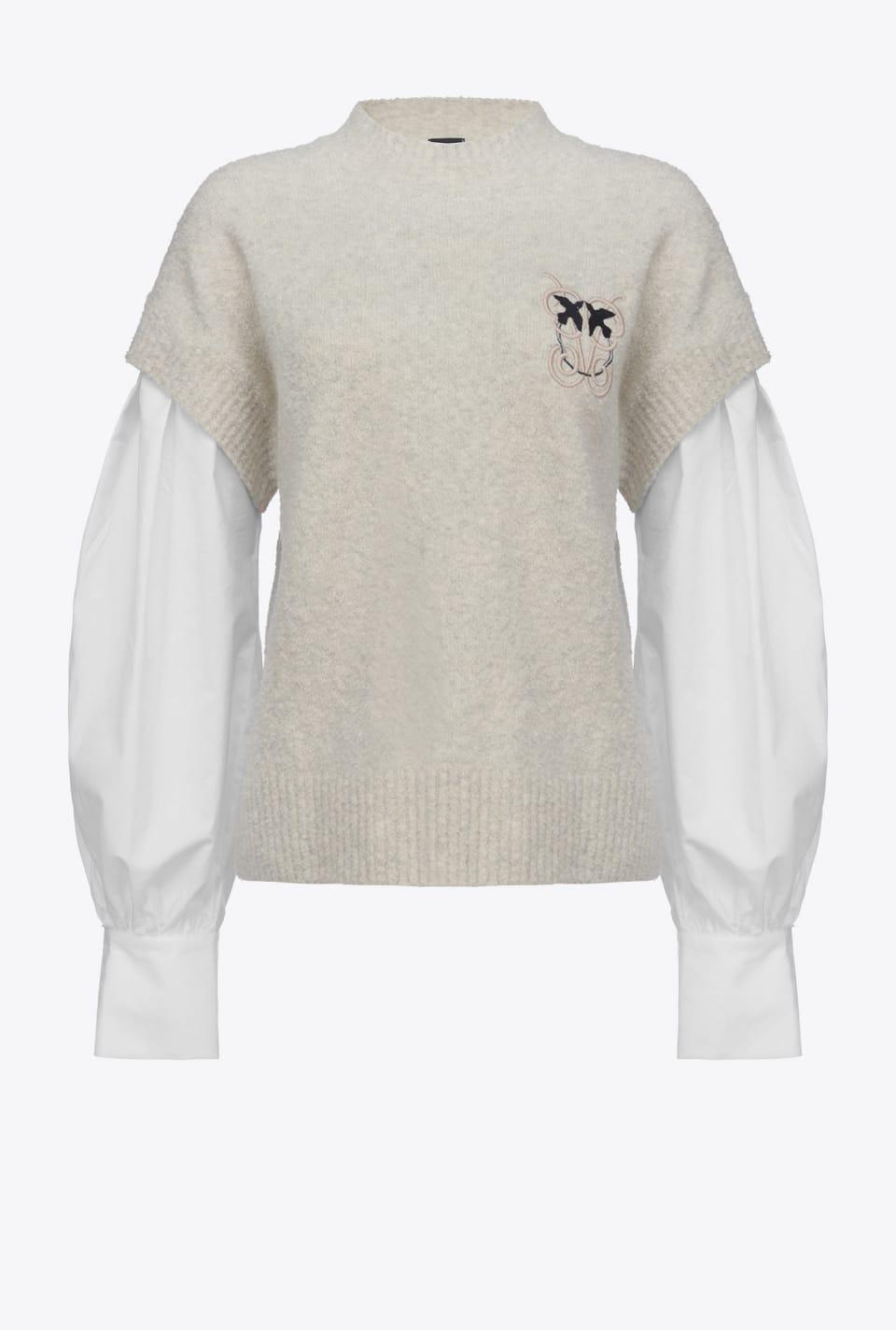 Knit waistcoat-look shirt - Pinko