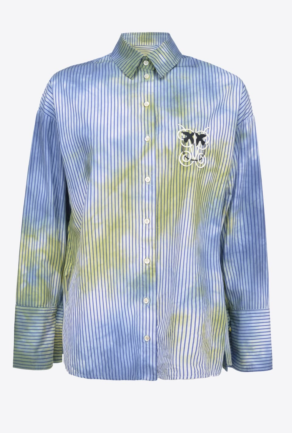Striped tie & dye shirt - Pinko