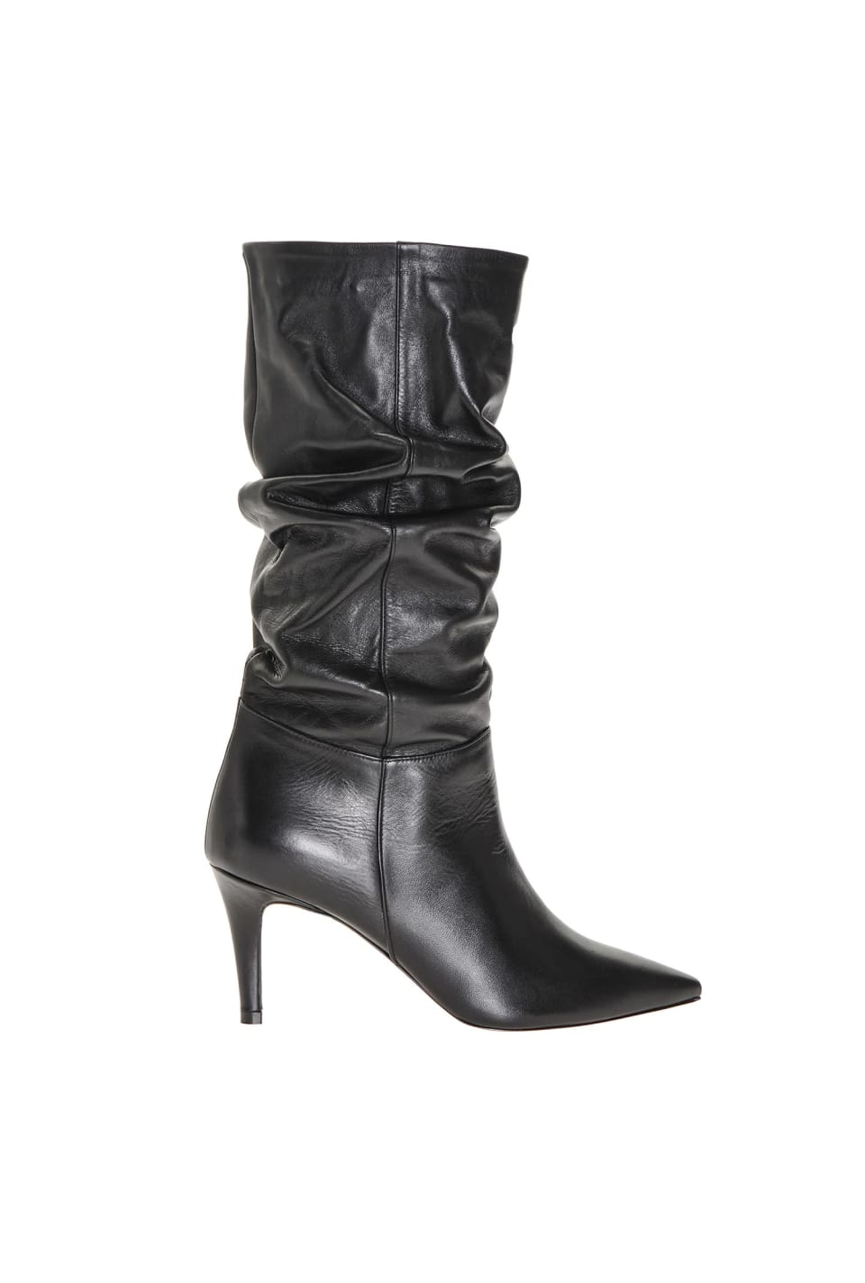 Nappa finish leather boots