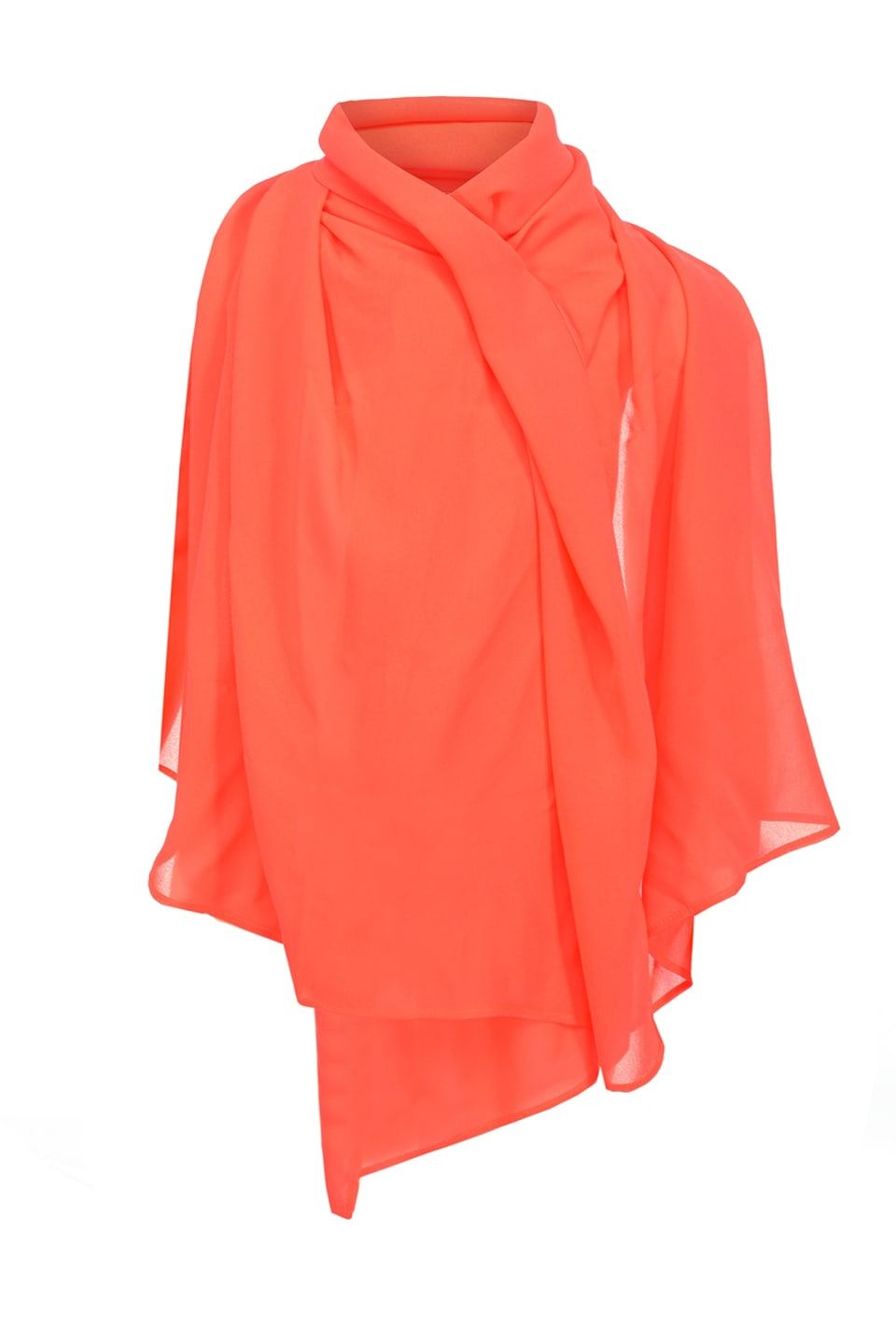 Stola in georgette fluo