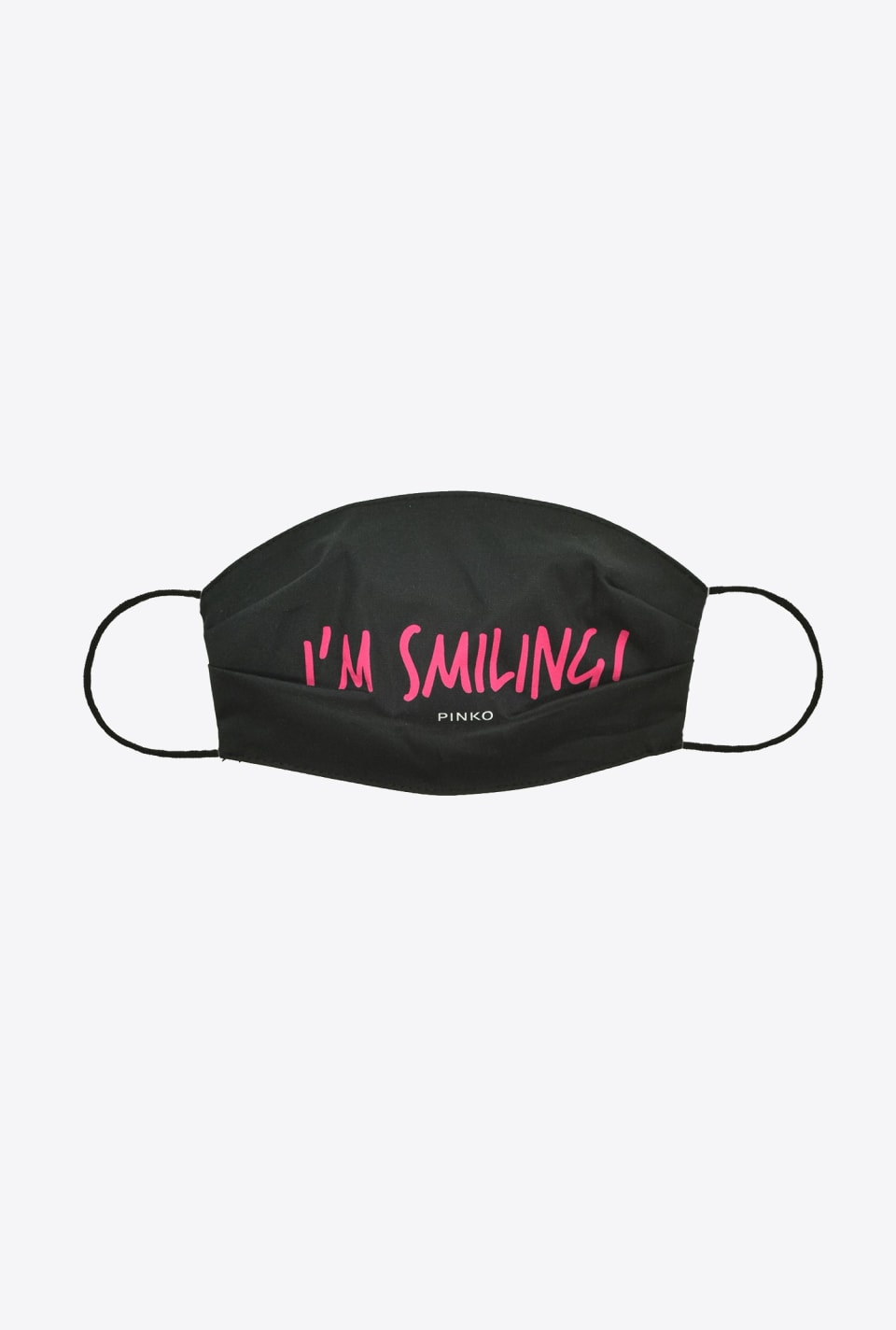 """I am smiling!"" face mask - Pinko"