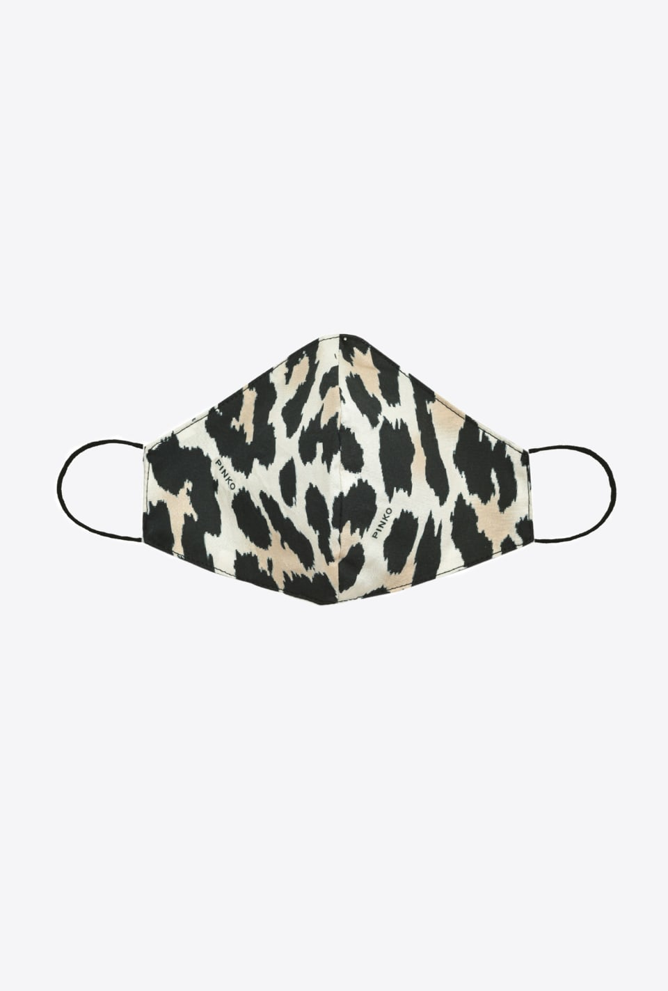 Shaped face mask with leopard print