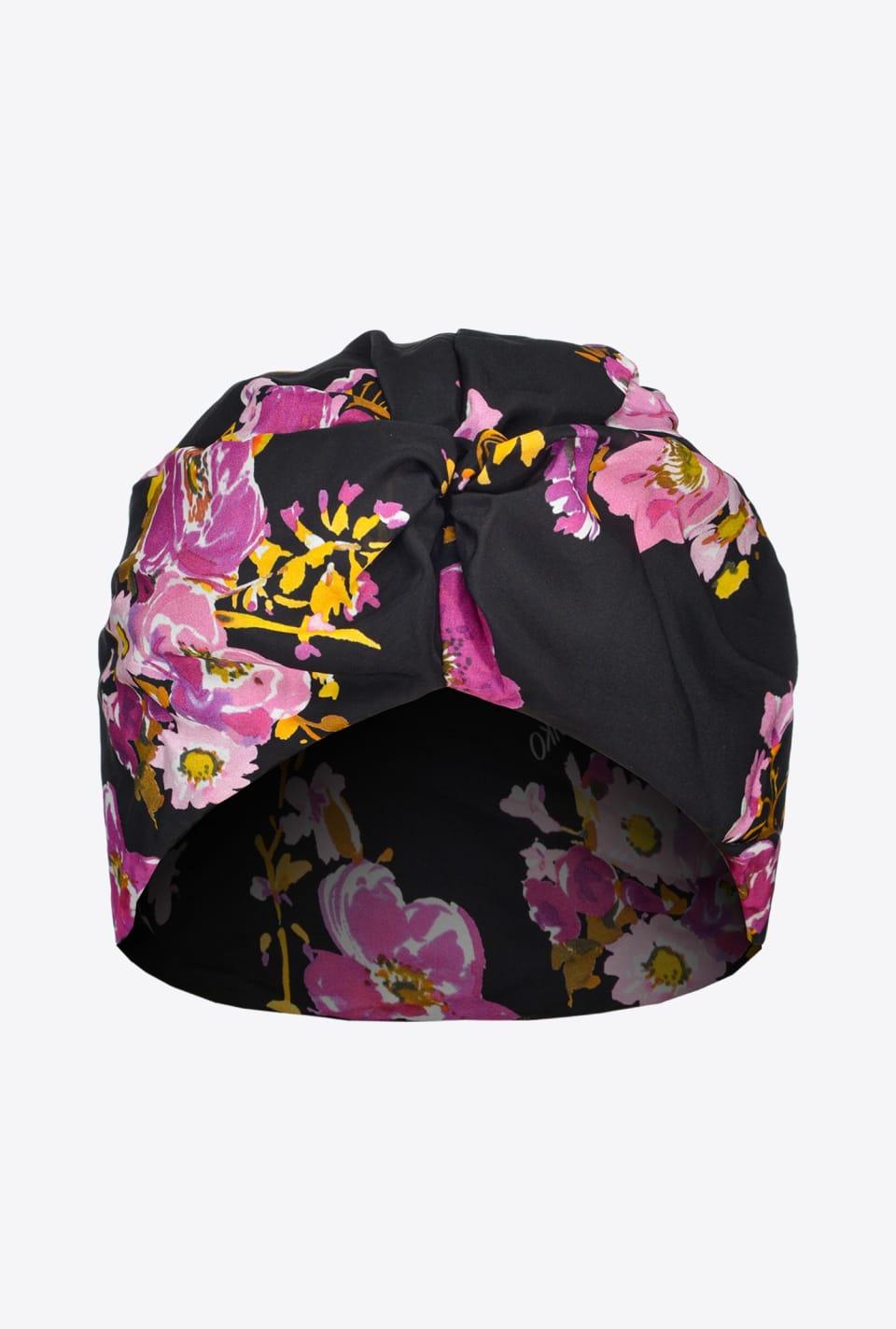 Floral print turban - Pinko