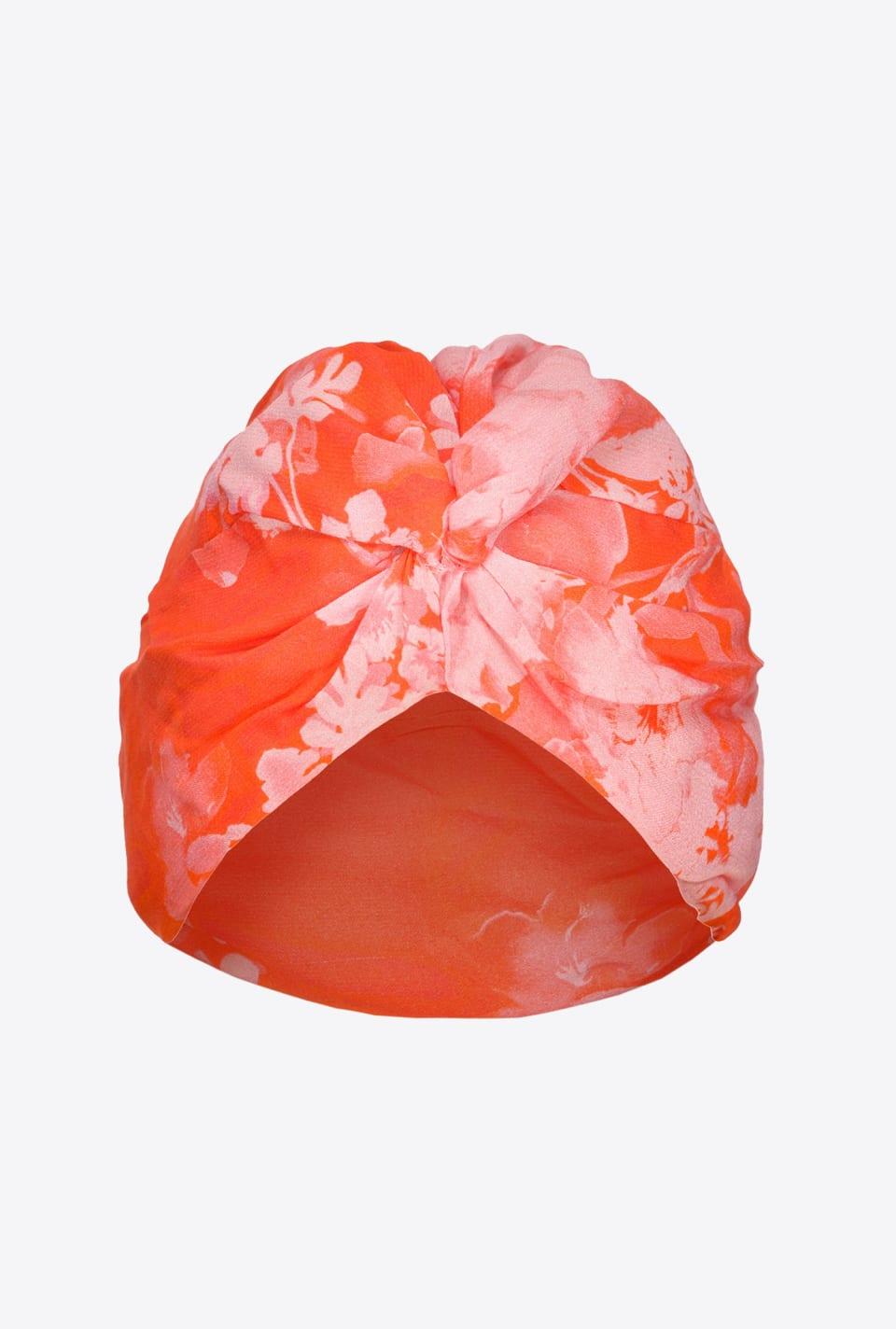Turban à imprimé hibiscus - Pinko
